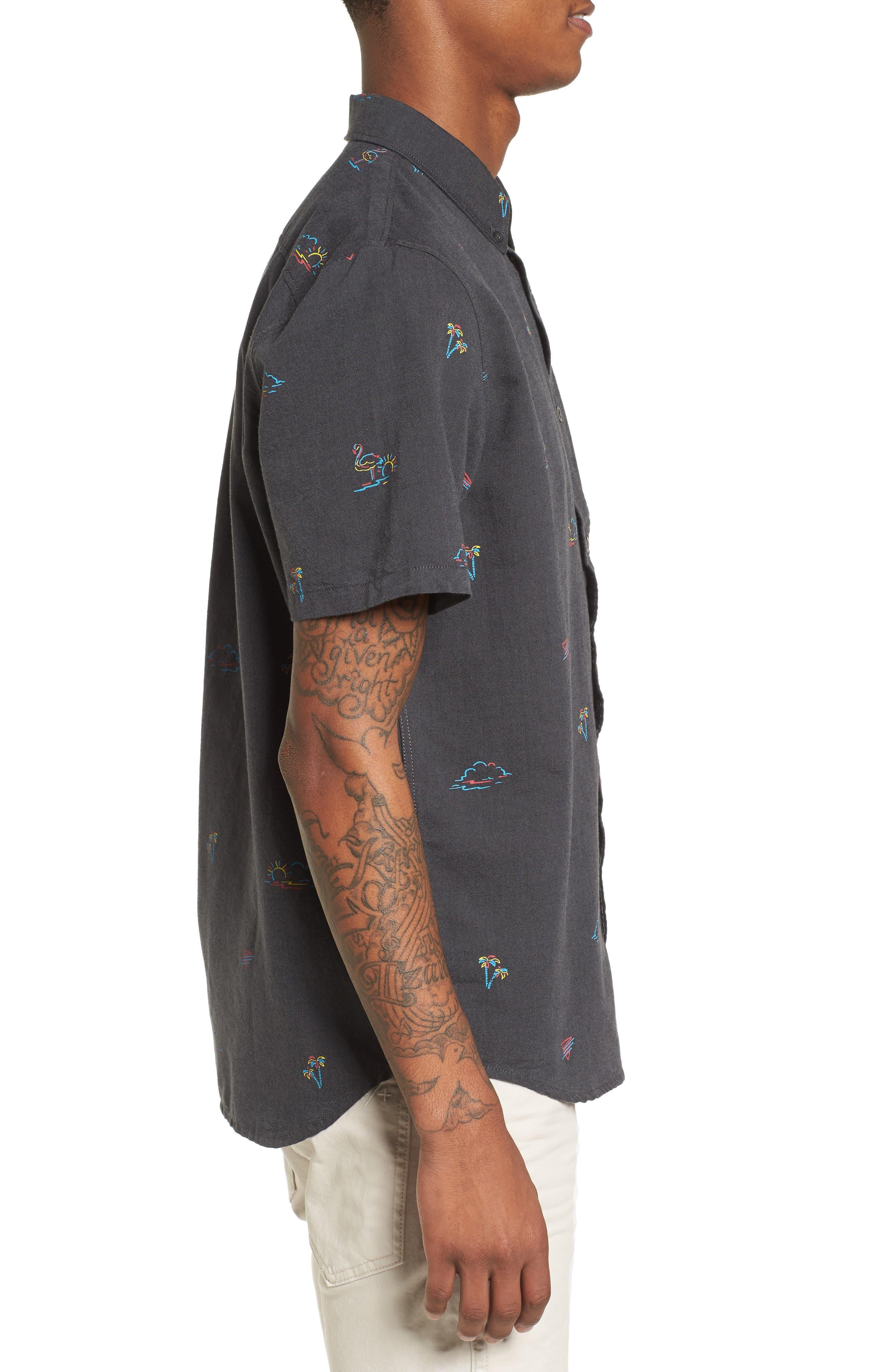 Houser Woven Shirt,                             Alternate thumbnail 4, color,                             Black Road Trippin