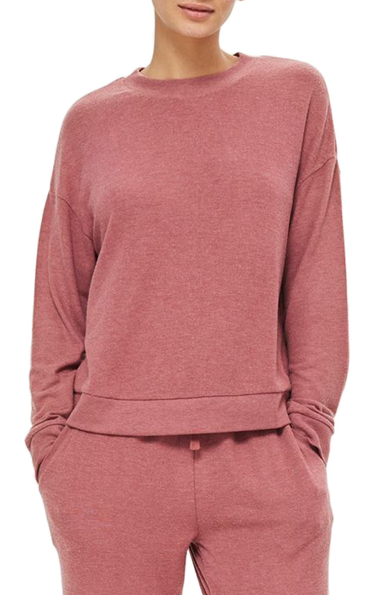 Rose Sweatshirt,                         Main,                         color, Pink