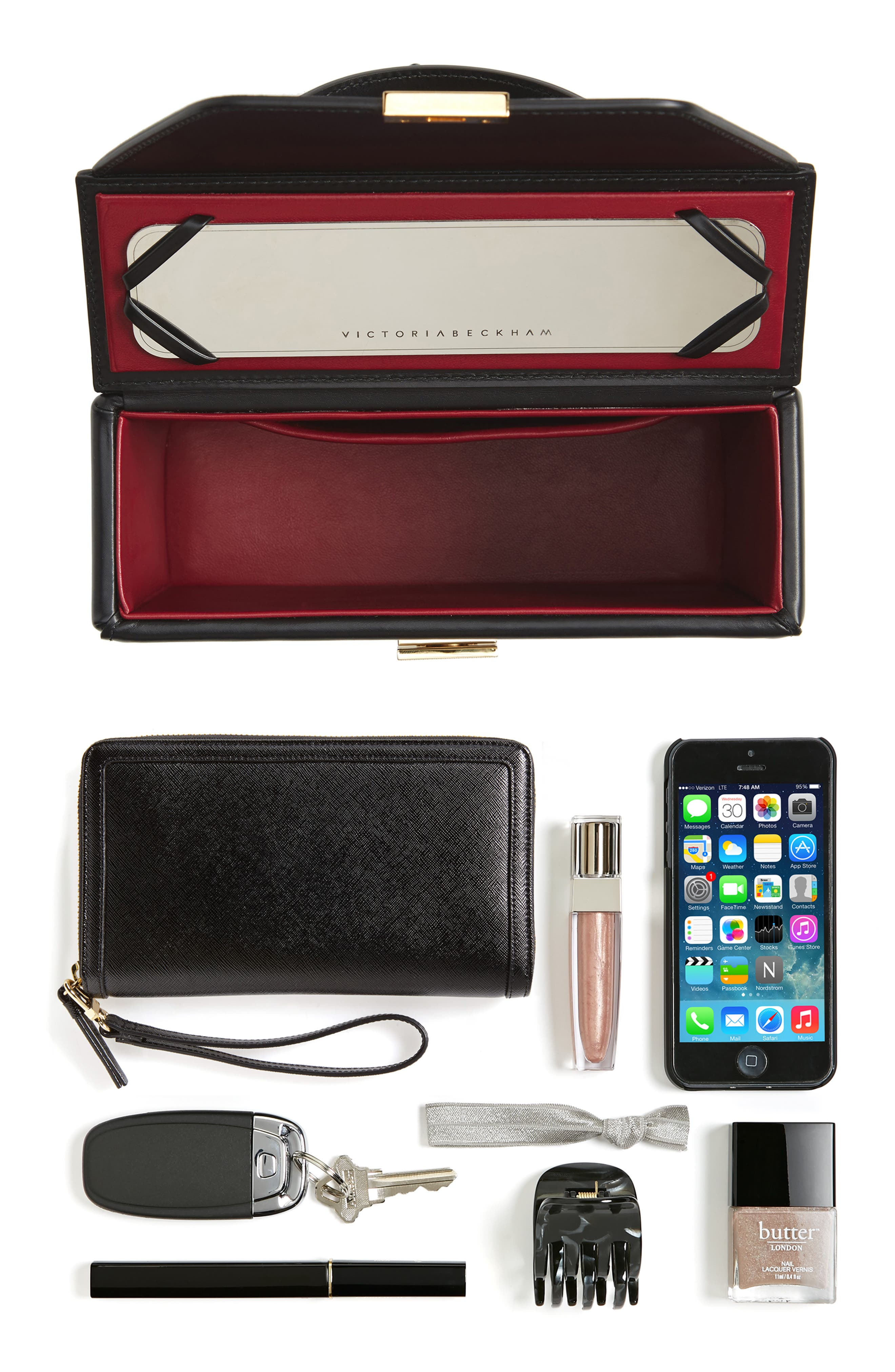 Alternate Image 6  - Victoria Beckham Mini Vanity Top Handle Box Bag