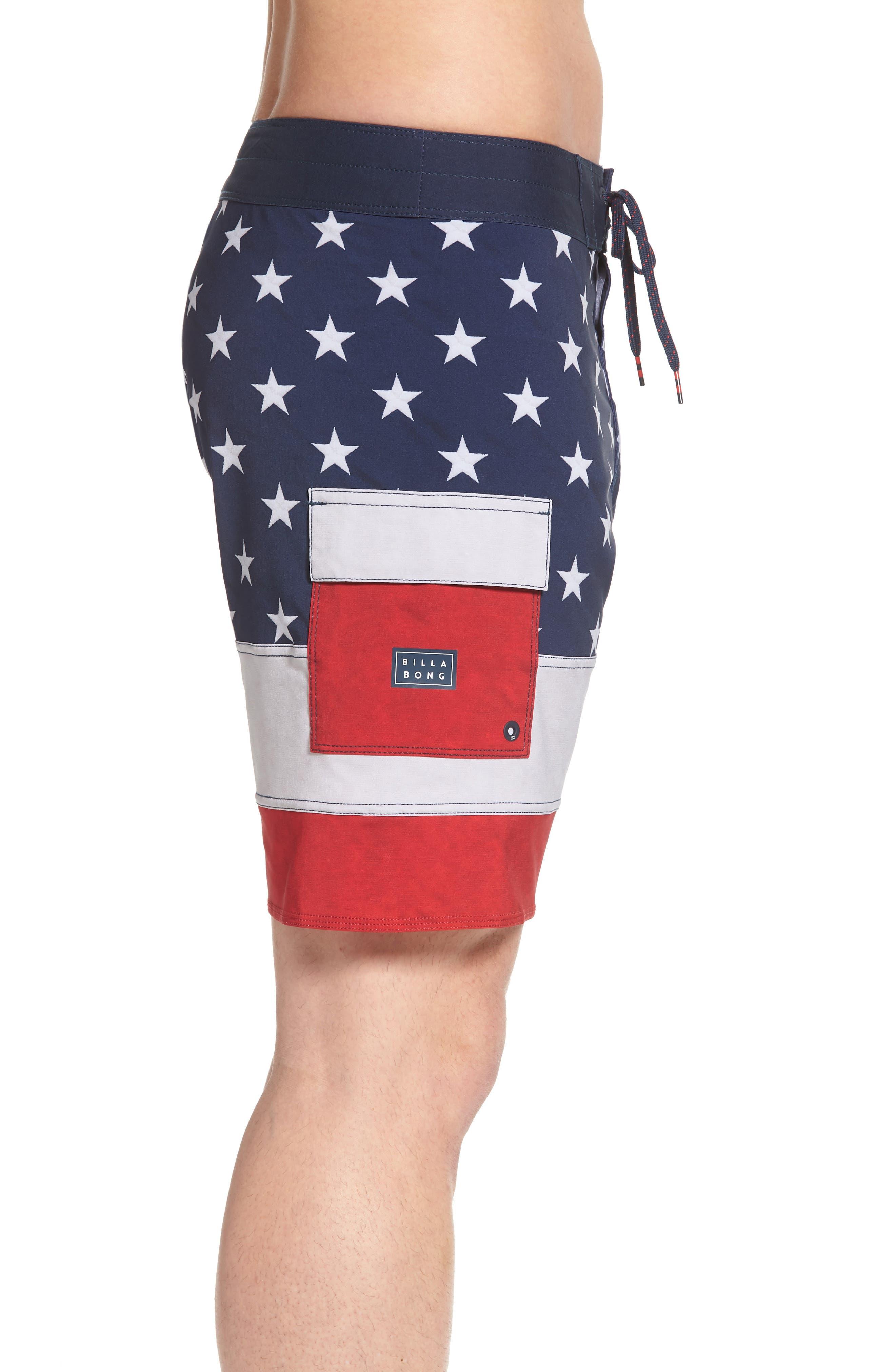 Pump X Board Shorts,                             Alternate thumbnail 3, color,                             Navy