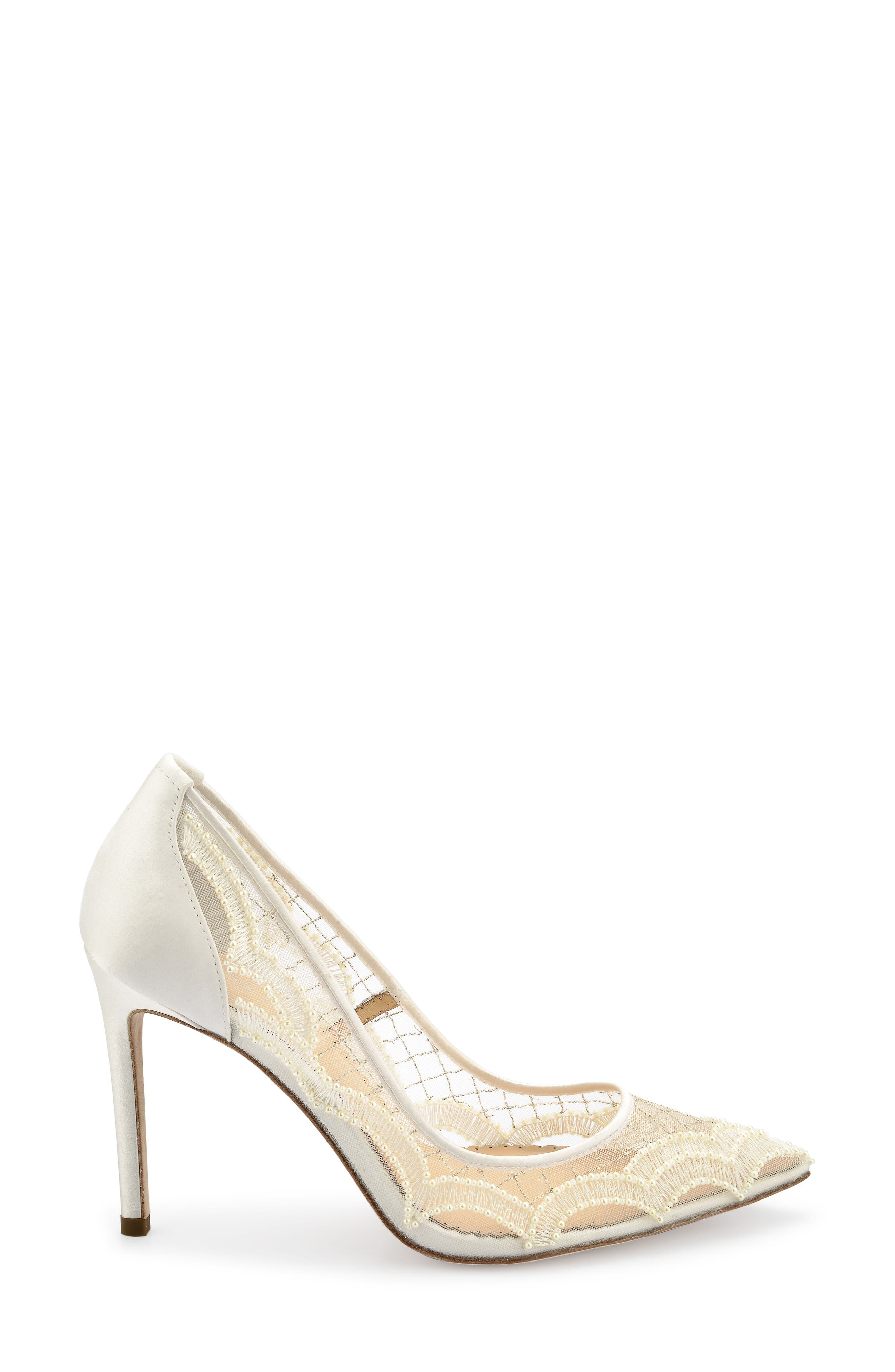 Nadia Pump,                             Alternate thumbnail 3, color,                             Ivory Silk