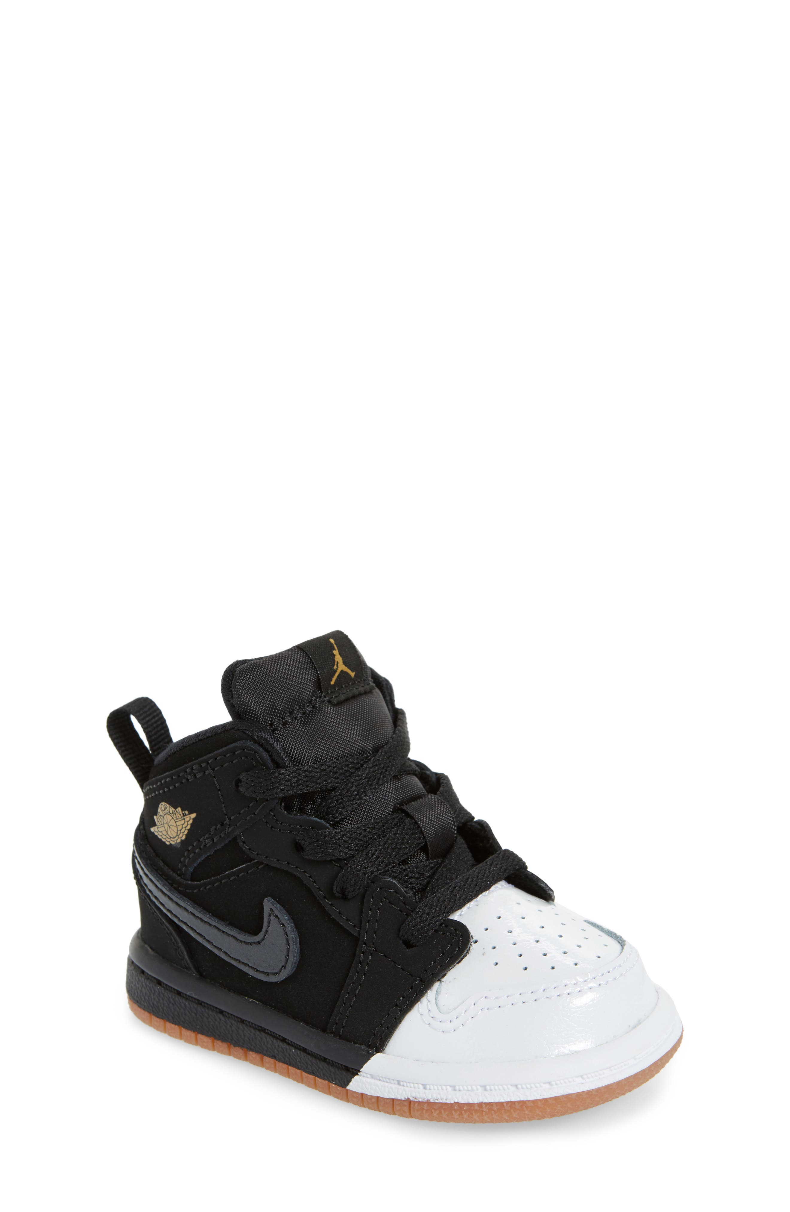 Alternate Image 1 Selected - Nike 'Jordan 1 Mid' Basketball Shoe (Walker)