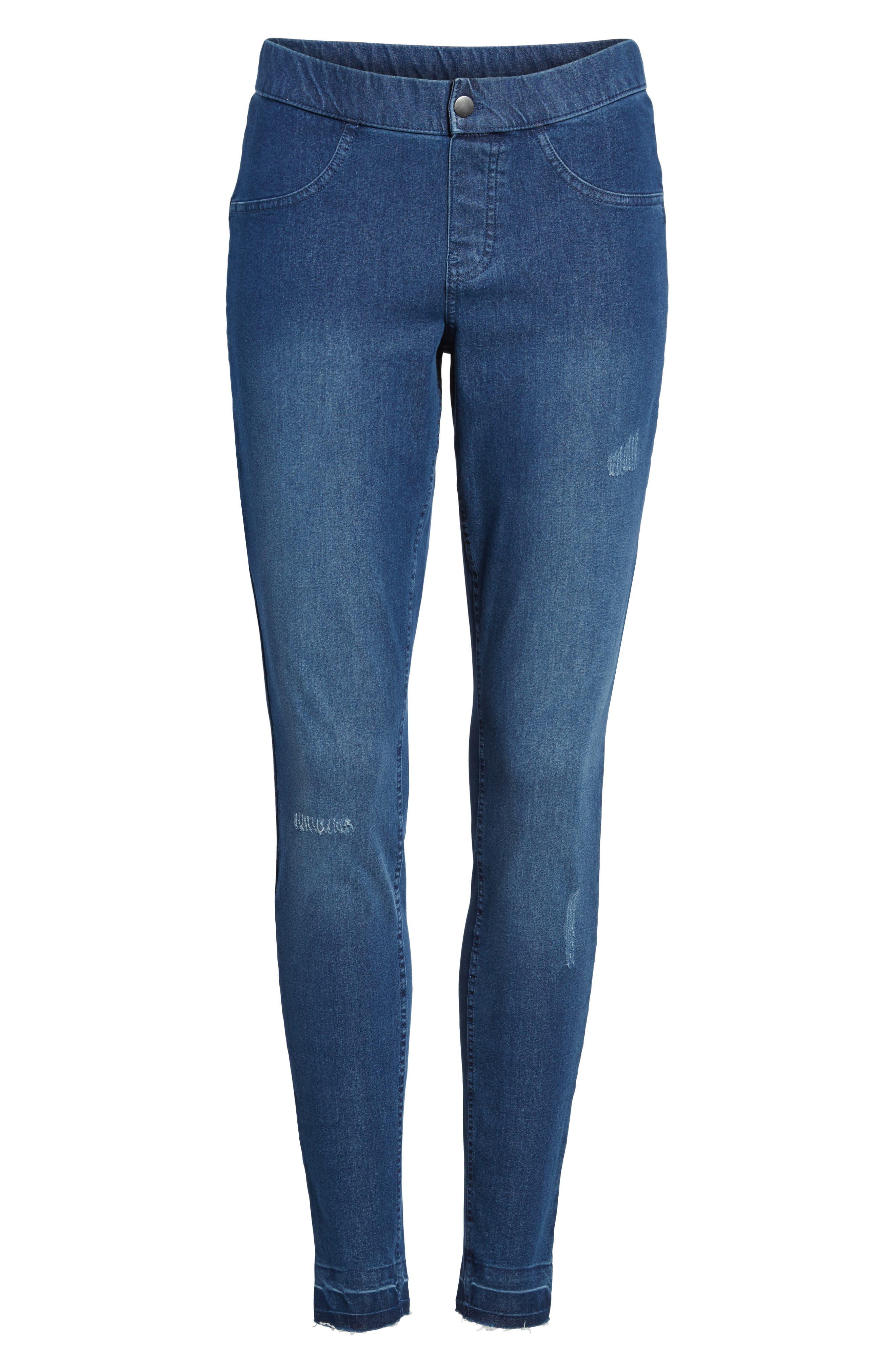 Selvedge Edge Denim Leggings,                         Main,                         color, Medium Wash