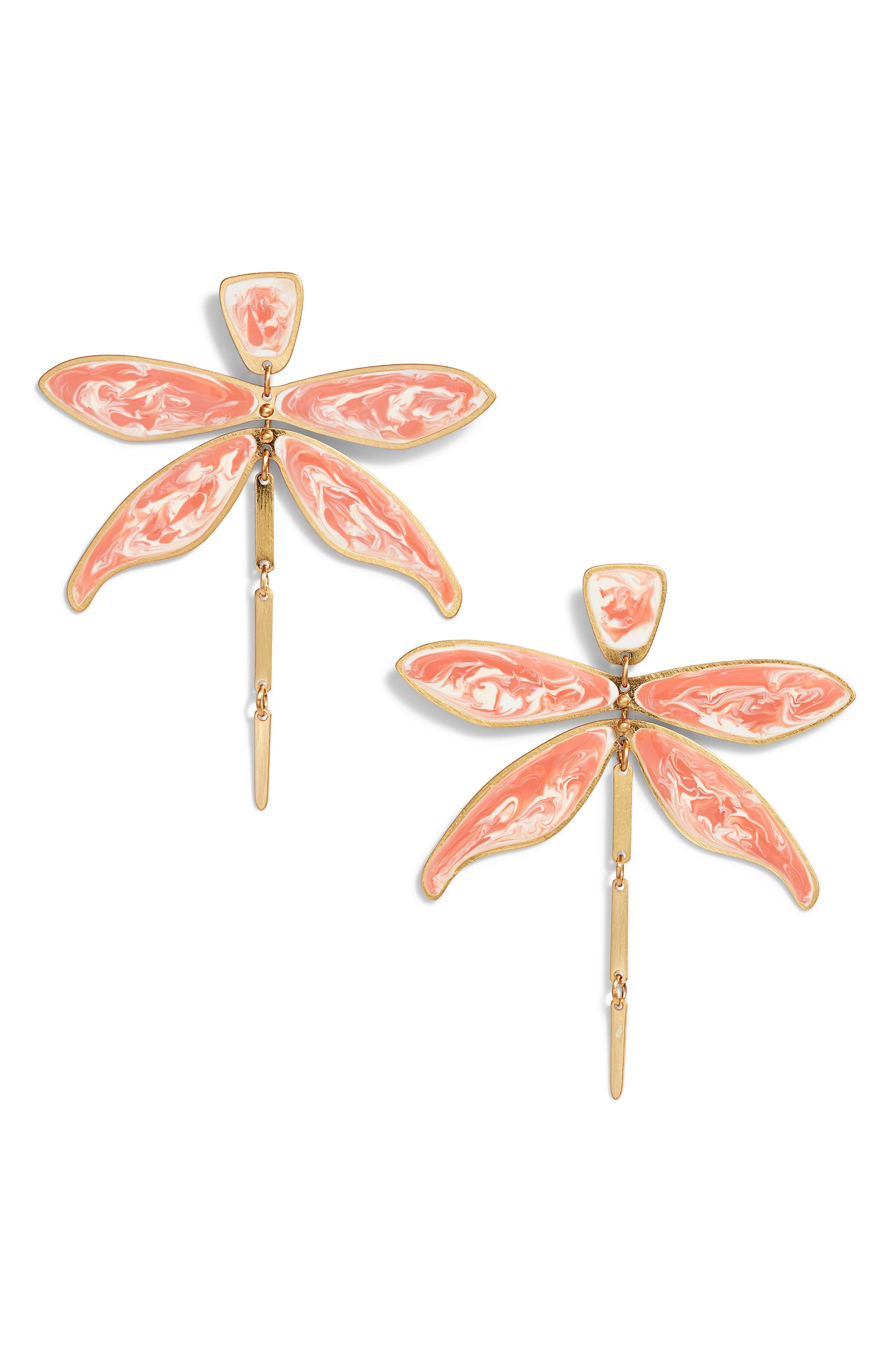 Alternate Image 1 Selected - Tory Burch Articulated Dragonfly Earrings
