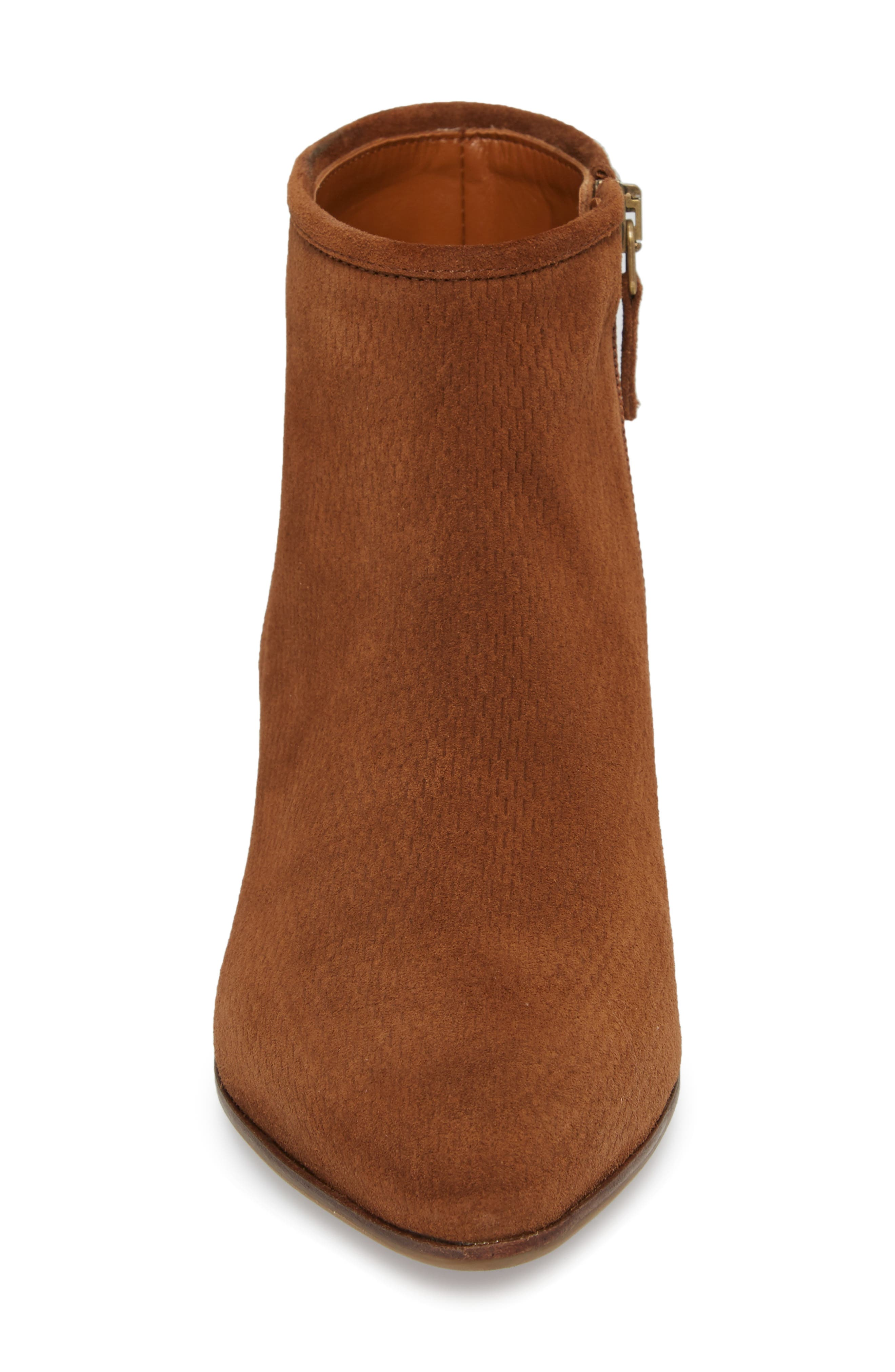 Fire Embossed Bootie,                             Alternate thumbnail 4, color,                             Chestnut