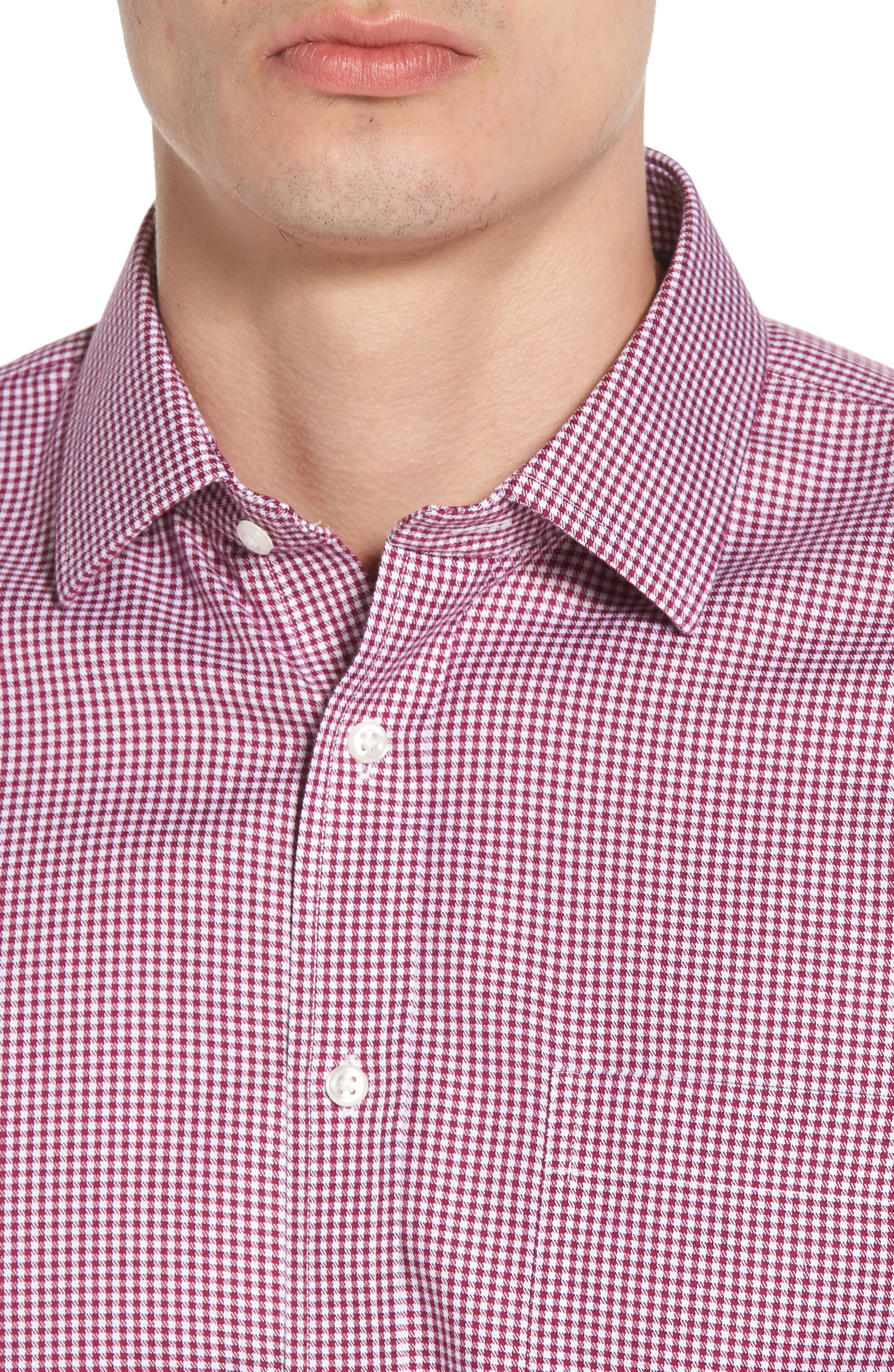 Smartcare<sup>™</sup> Trim Fit Mini Check Dress Shirt,                             Alternate thumbnail 2, color,                             Purple Boysen