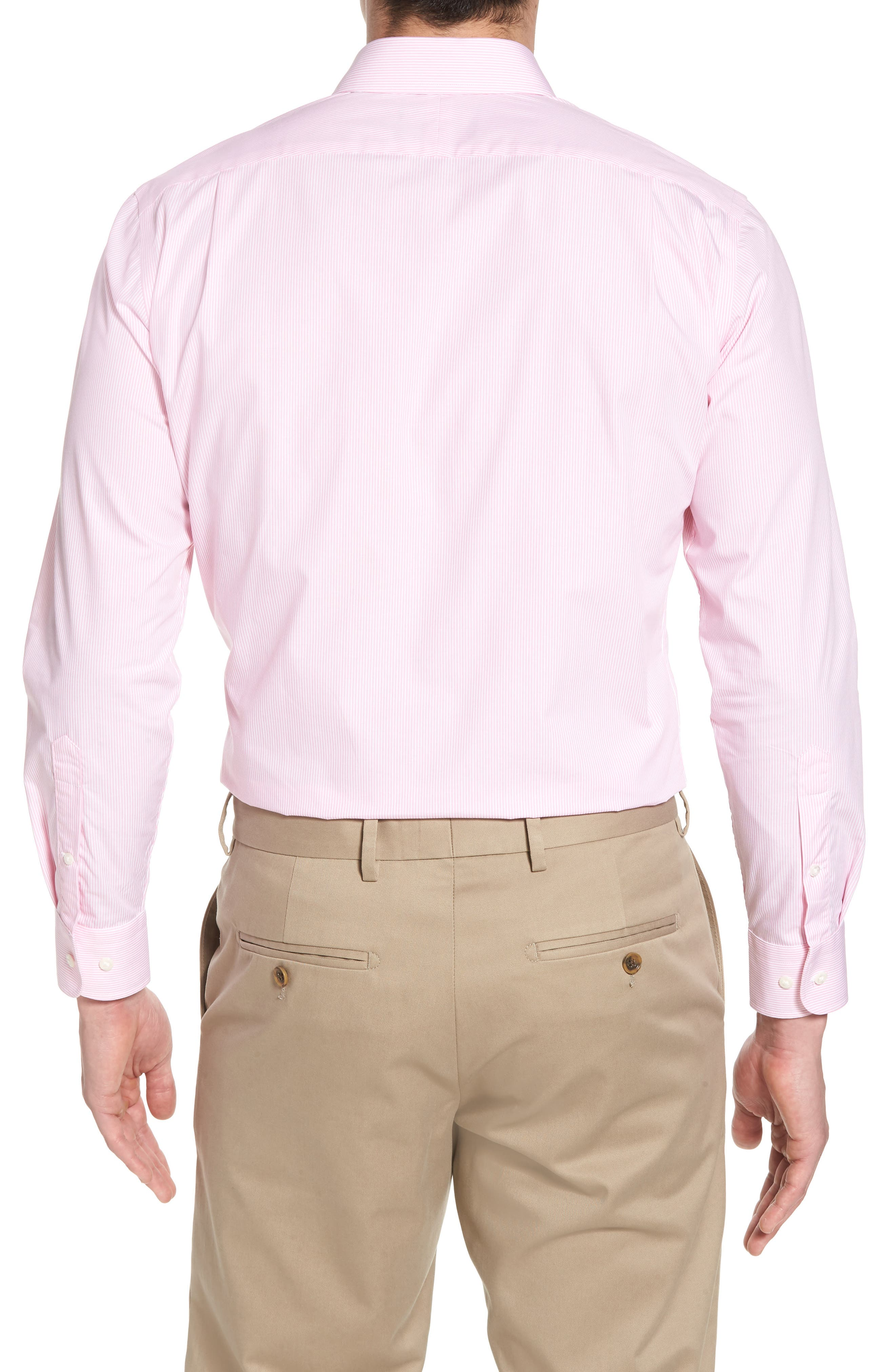 Alternate Image 2  - Nordstrom Men's Shop Trim Fit Non-Iron Stripe Dress Shirt