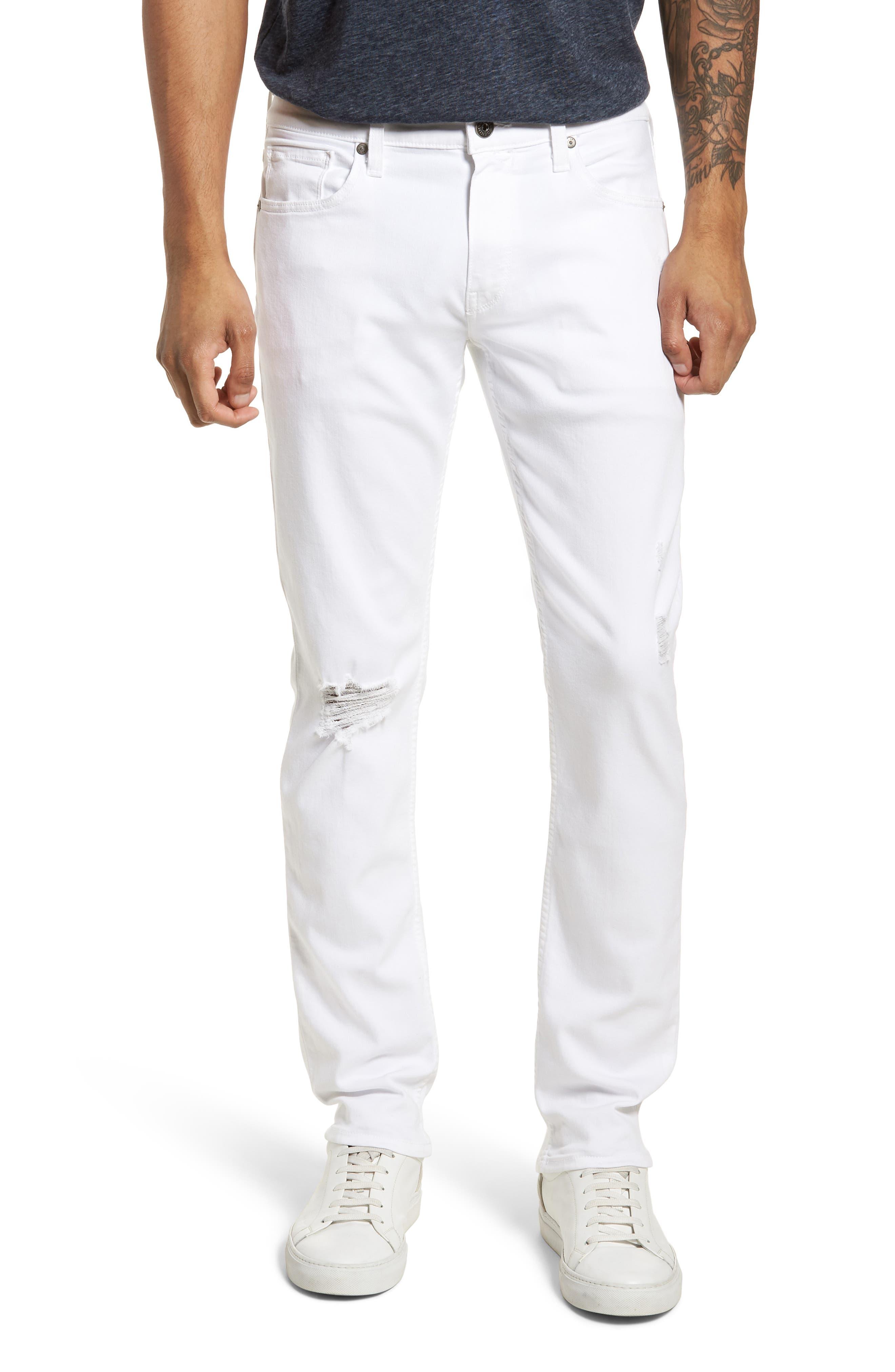 PAIGE Lennox Slim Leg Jeans (Icecap Destructed)