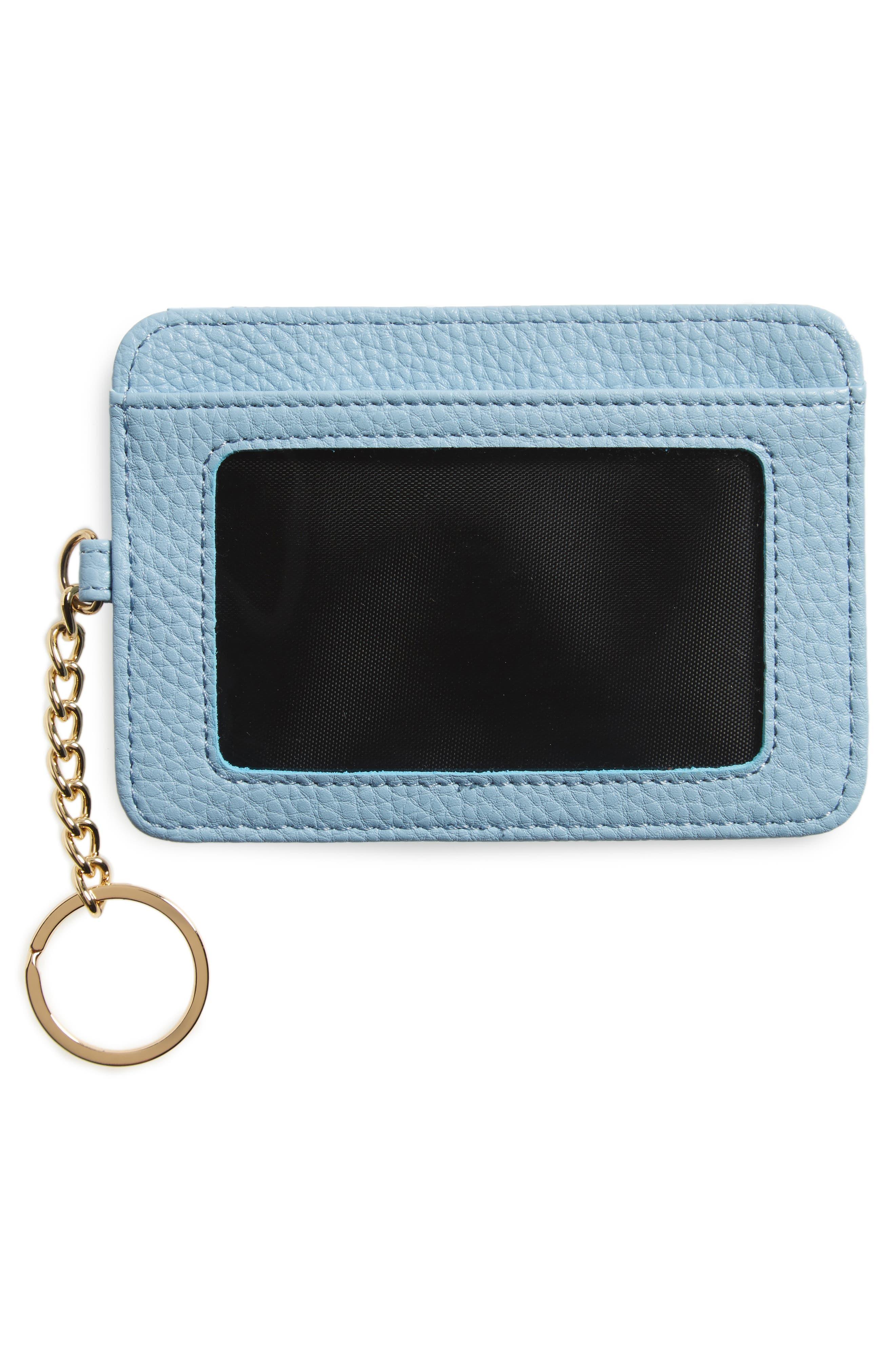 Faux Leather Card Case,                             Alternate thumbnail 2, color,                             Blue