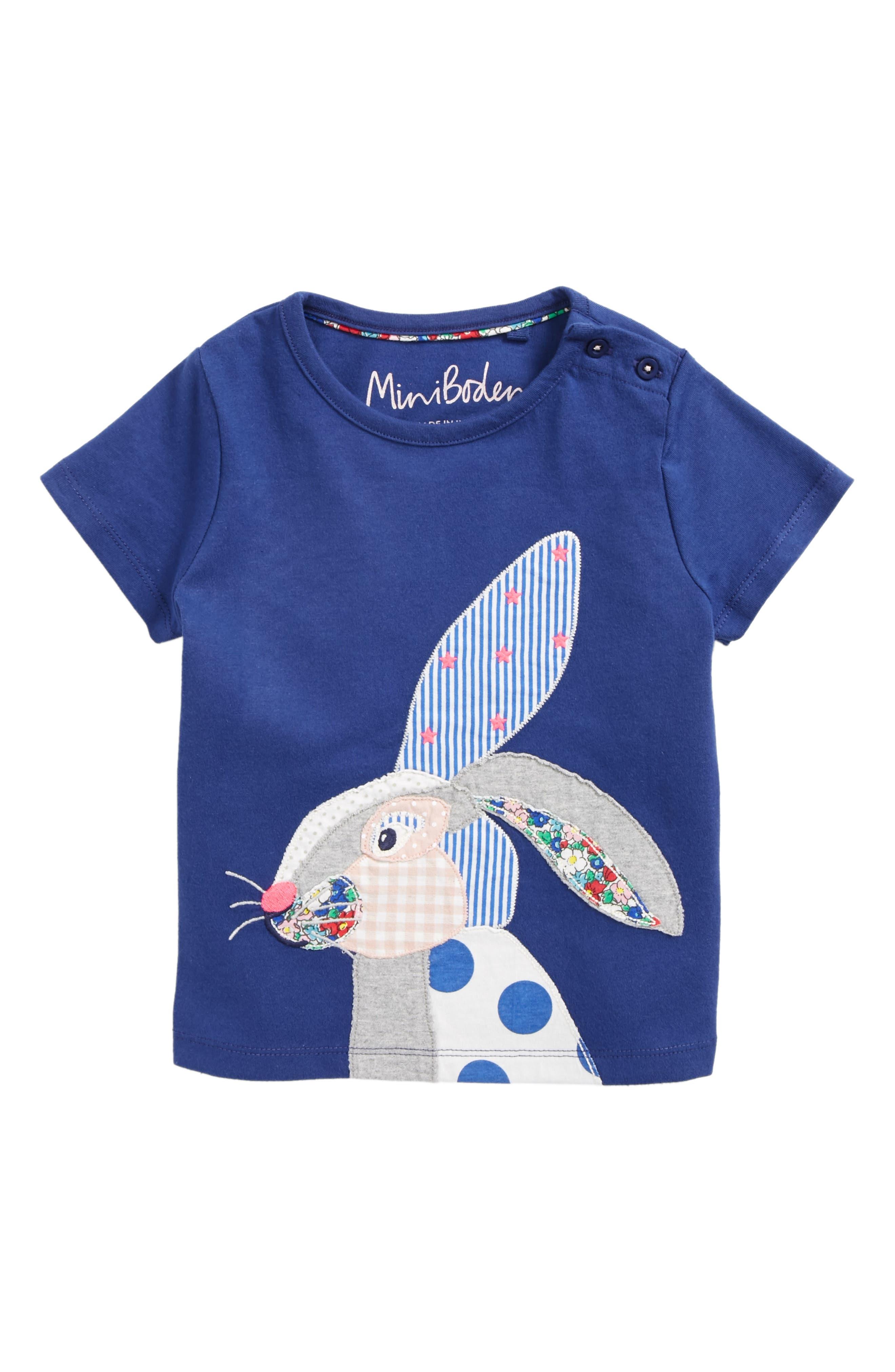Mini Boden Patchwork Appliqué Shirt (Toddler Girls, Little Girls & Big Girls)