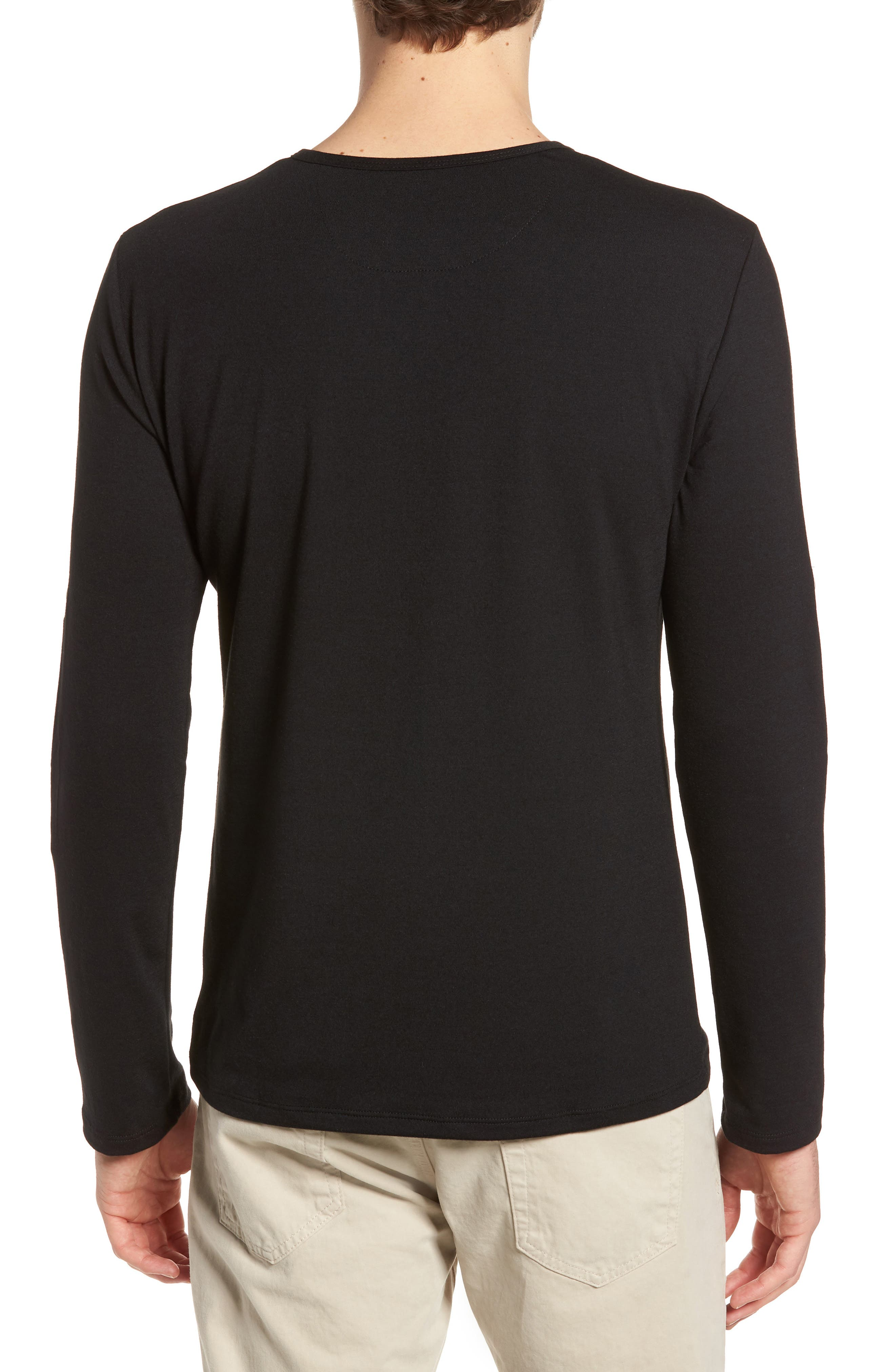 Mizzen Henley,                             Alternate thumbnail 2, color,                             Black / Black