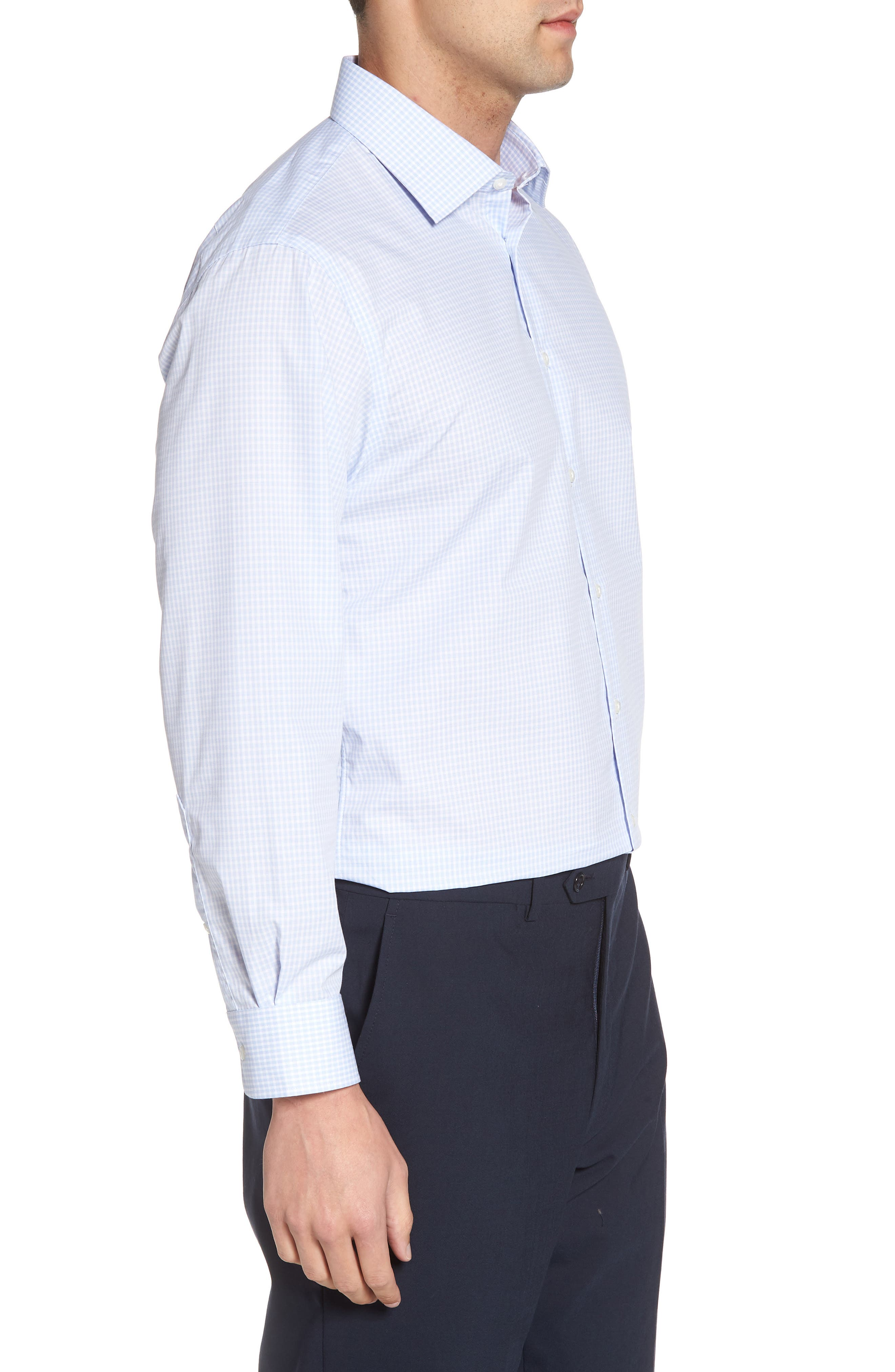 Alternate Image 3  - Nordstrom Men's Shop Traditional Fit Non-Iron Check Dress Shirt
