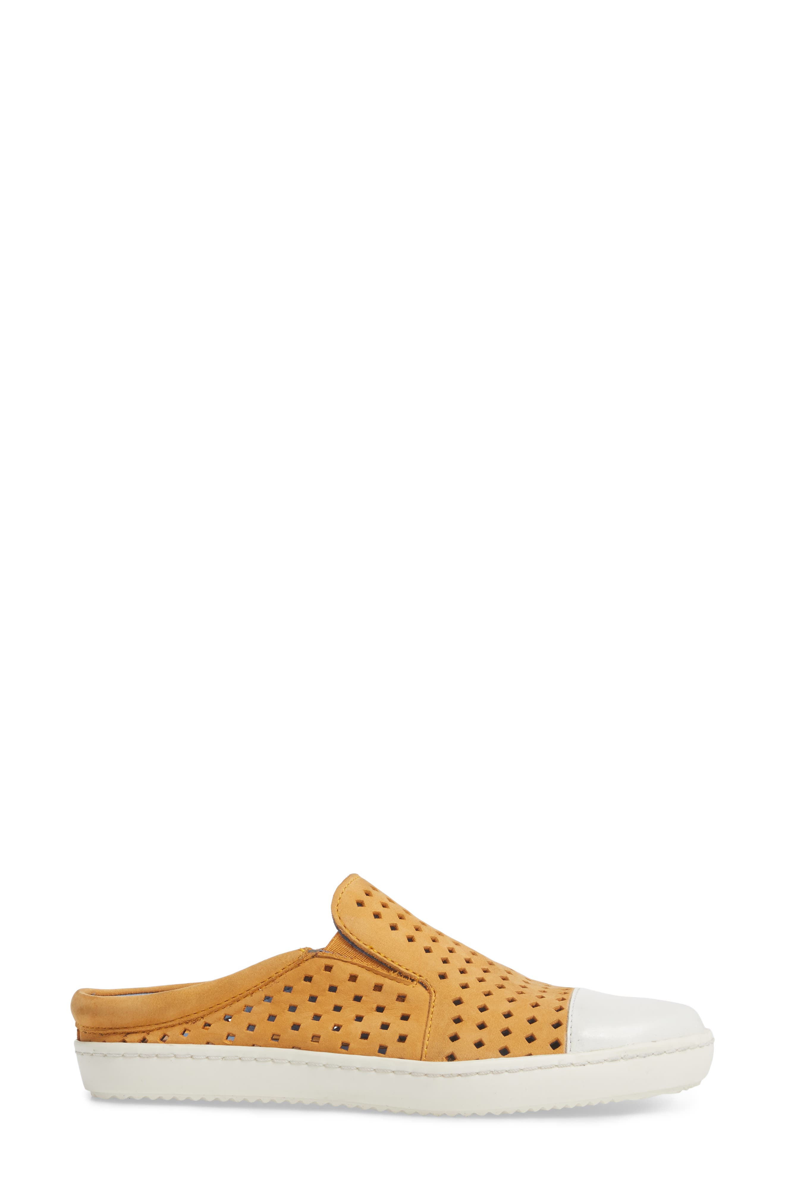 Tippy Slip-On Sneaker,                             Alternate thumbnail 3, color,                             Saffon Suede