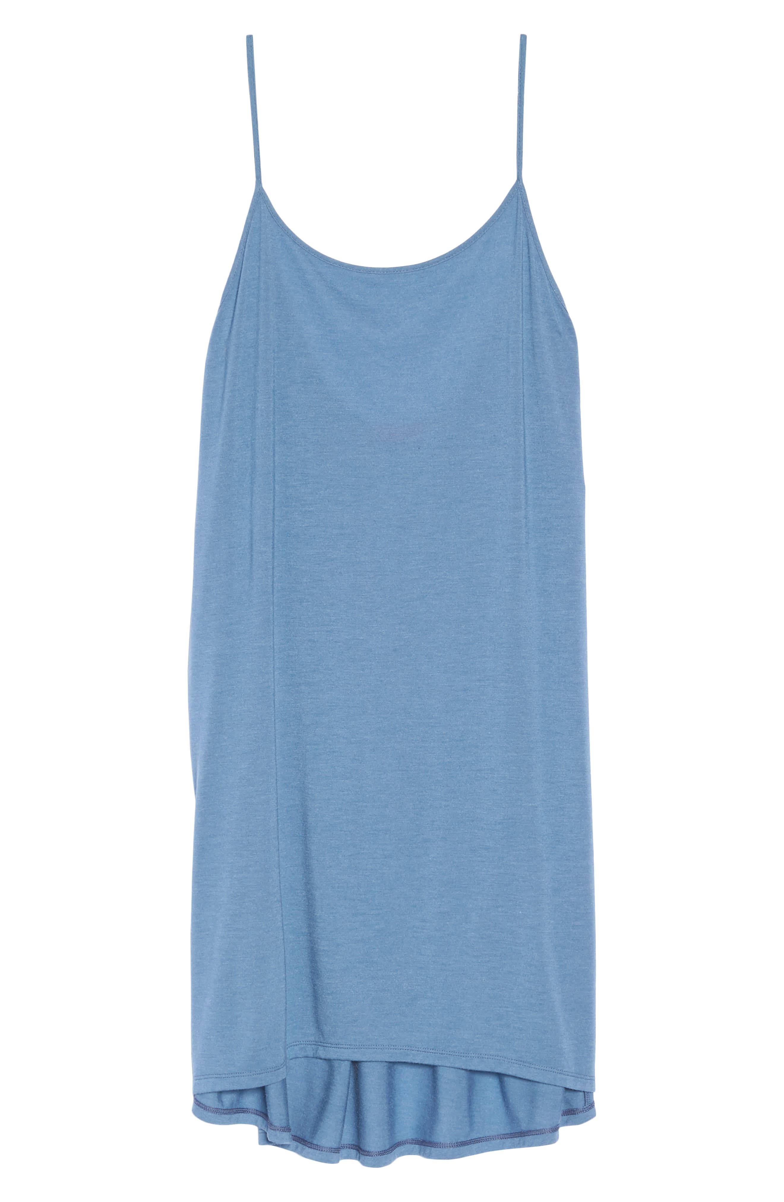 Heather Tees Chemise,                             Alternate thumbnail 6, color,                             Bsq Ht Blue Shadow
