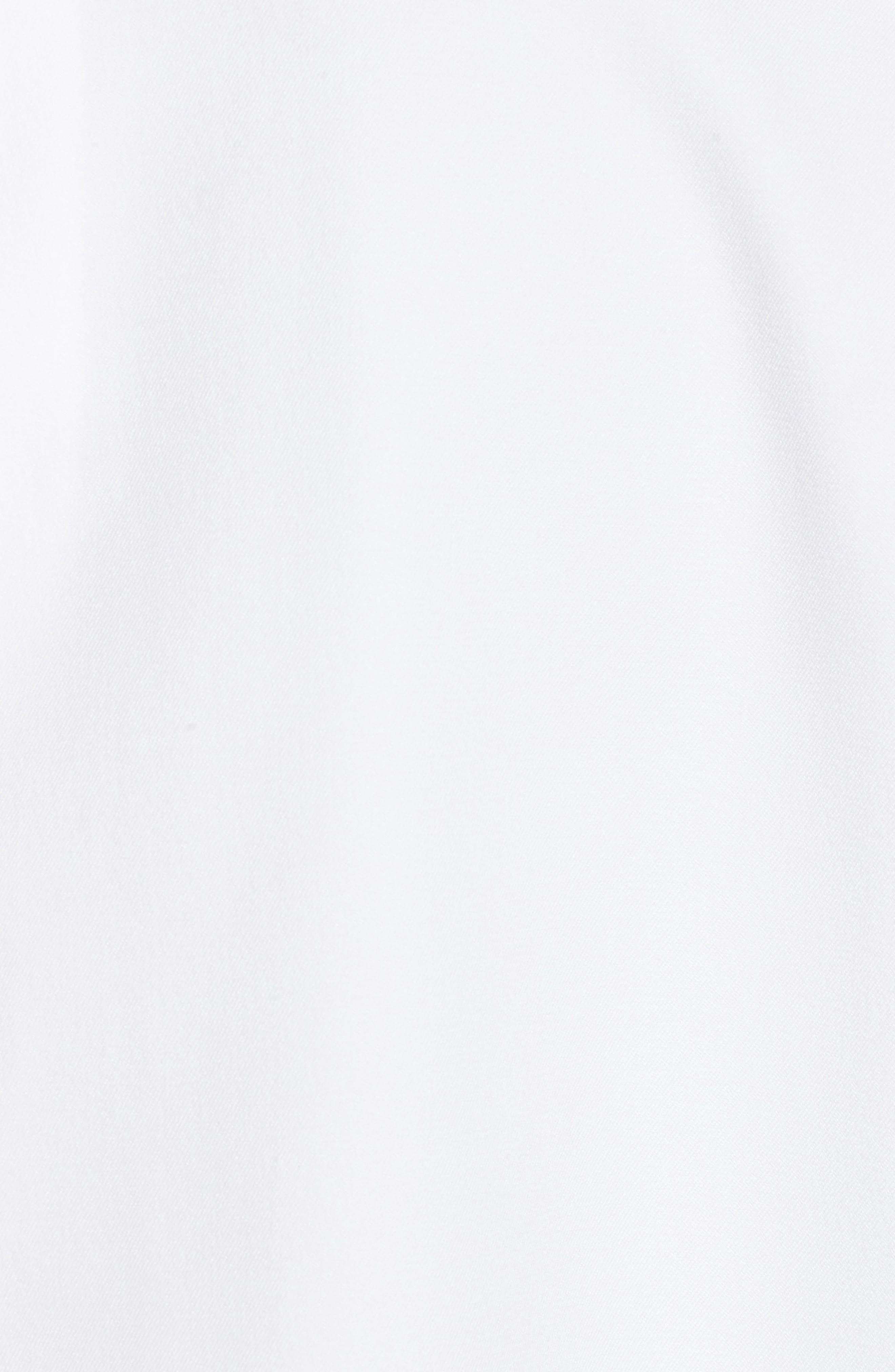 Mandarin Collar Stitch Trim Jacket,                             Alternate thumbnail 5, color,                             White/ Black