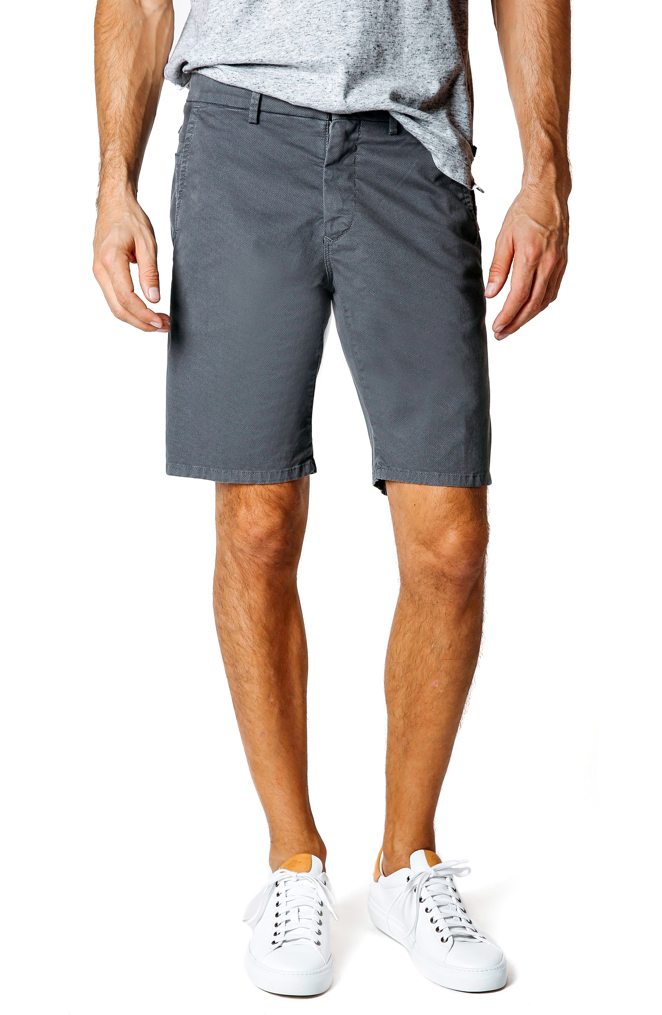 Wrap Microdot Stretch Chino Shorts,                         Main,                         color, Magnet