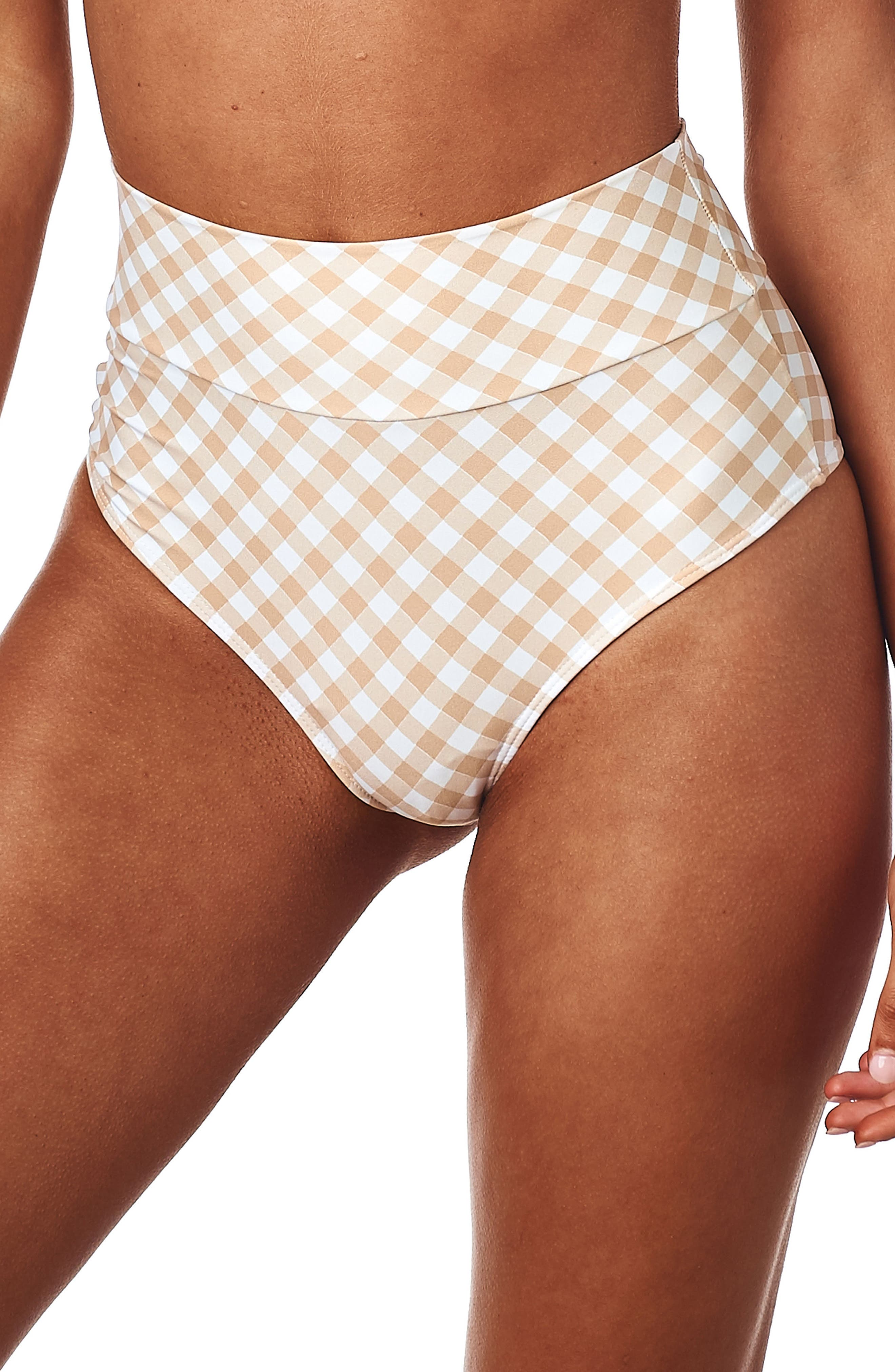 AC High Rise Bikini Bottoms,                         Main,                         color, Spring Gingham