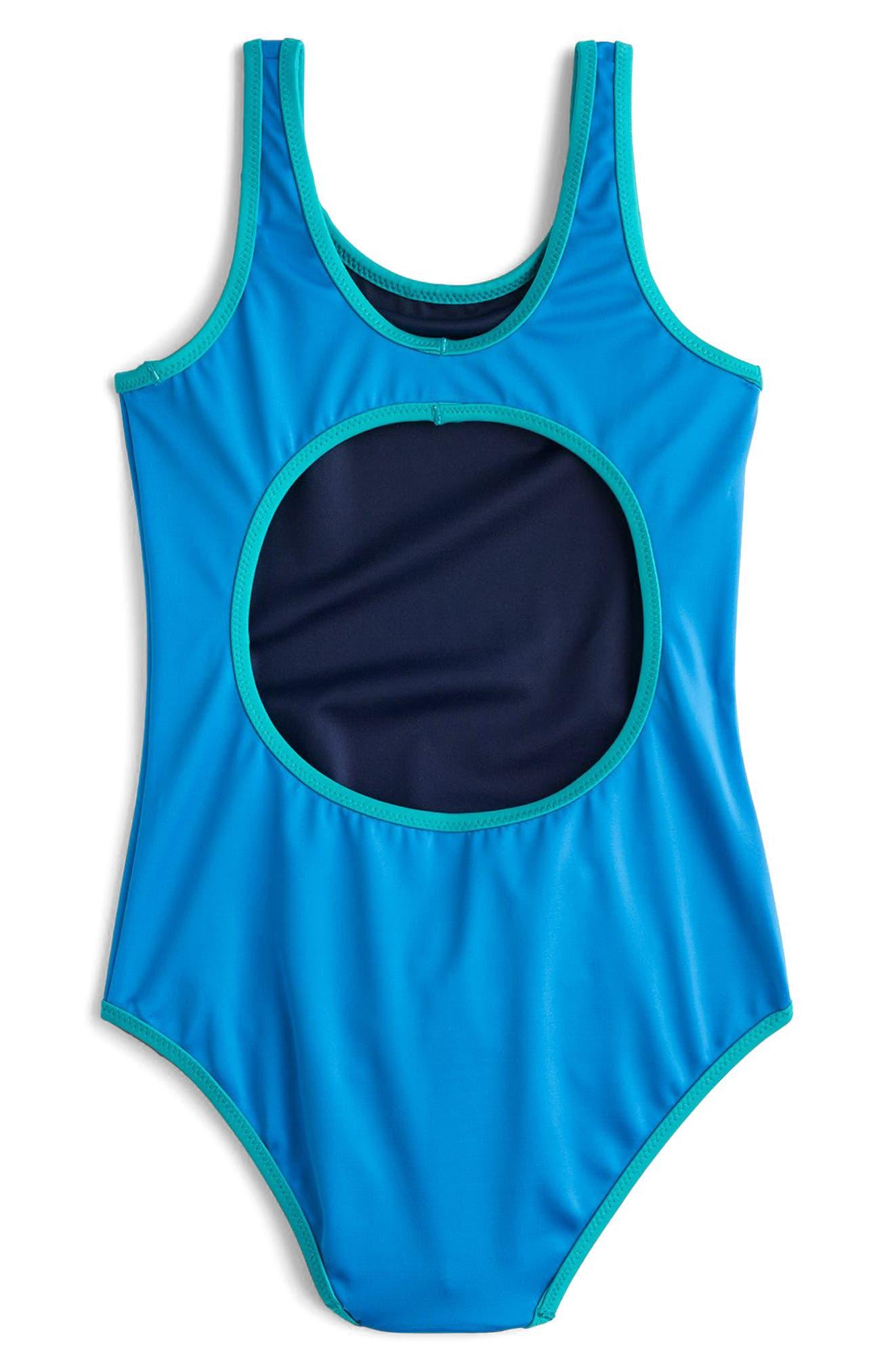 Reversible One-Piece Swimsuit,                             Alternate thumbnail 3, color,                             Peri Marine