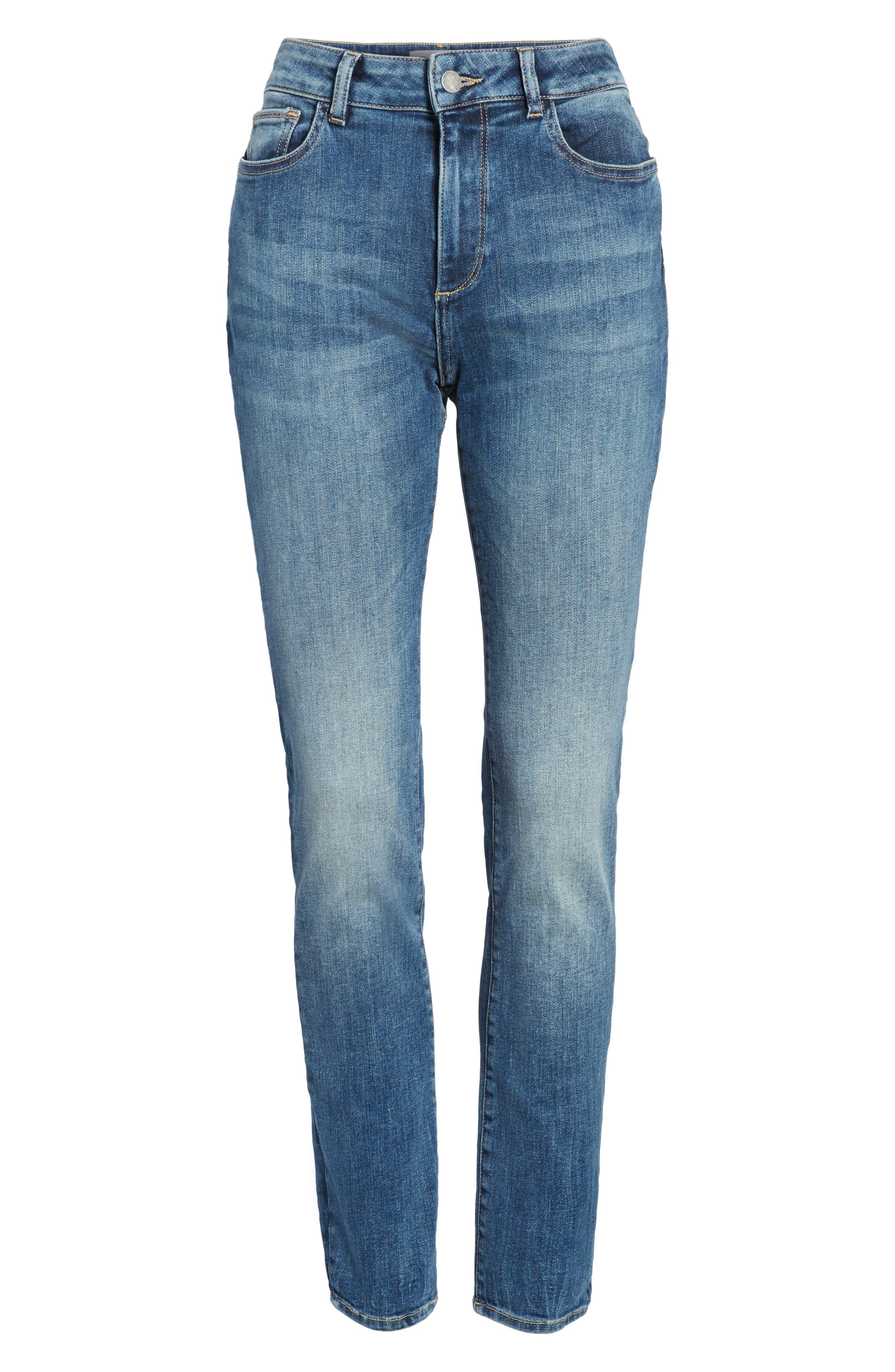 Farrow Instaslim High Waist Skinny Jeans,                             Alternate thumbnail 6, color,                             Wells