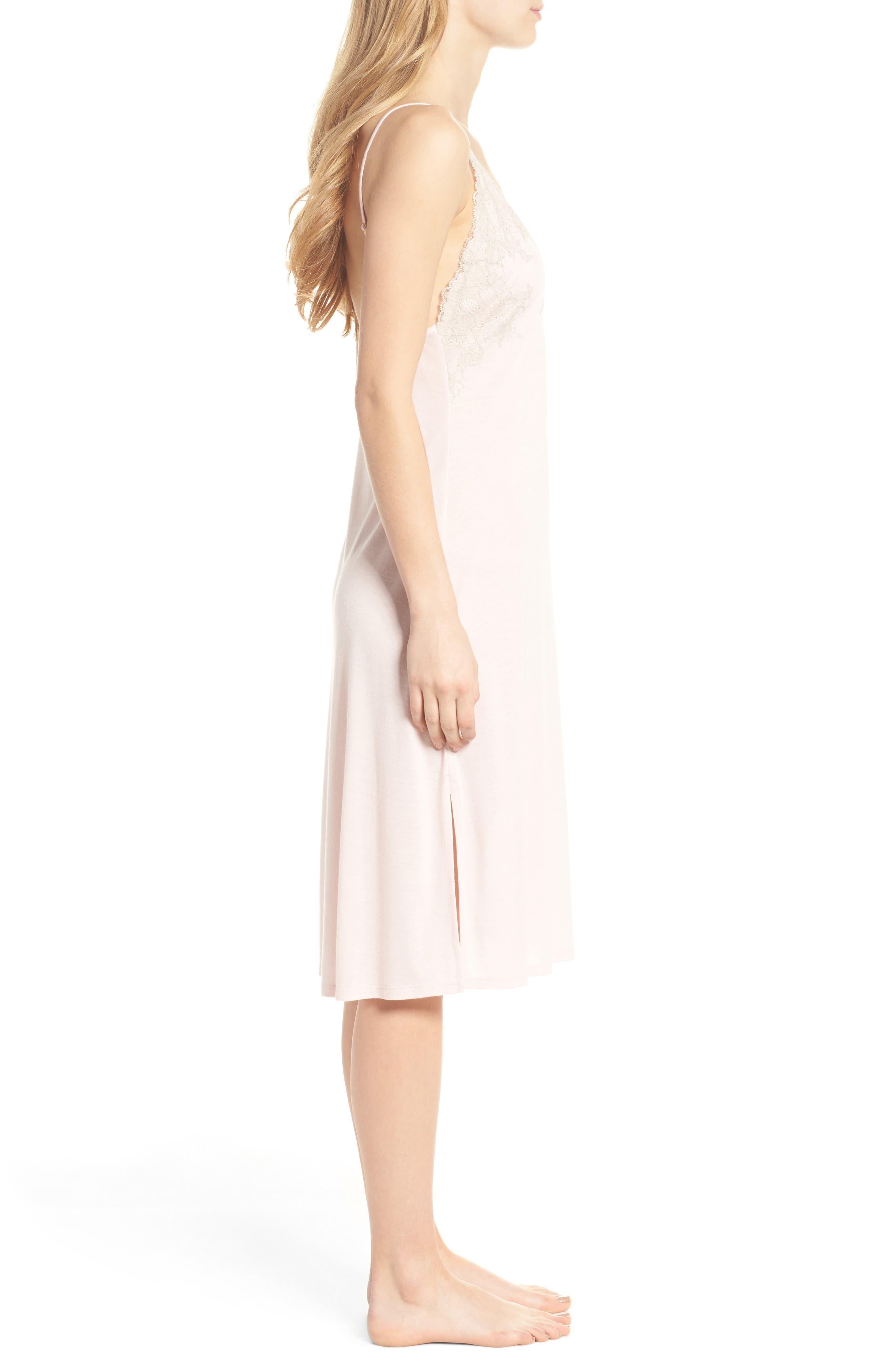 Luxe Shangri-La Nightgown,                             Alternate thumbnail 3, color,                             Blush Pink