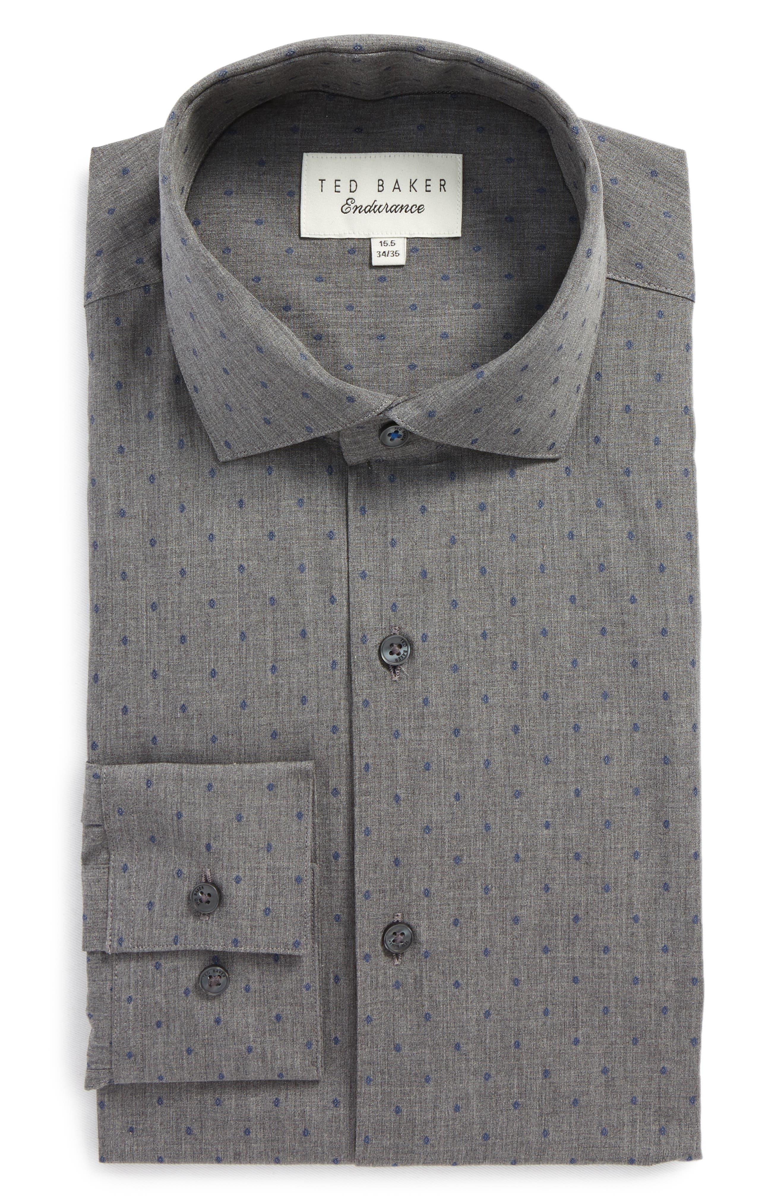 Ted Baker London Endurance Tidies Trim Fit Print Dress Shirt