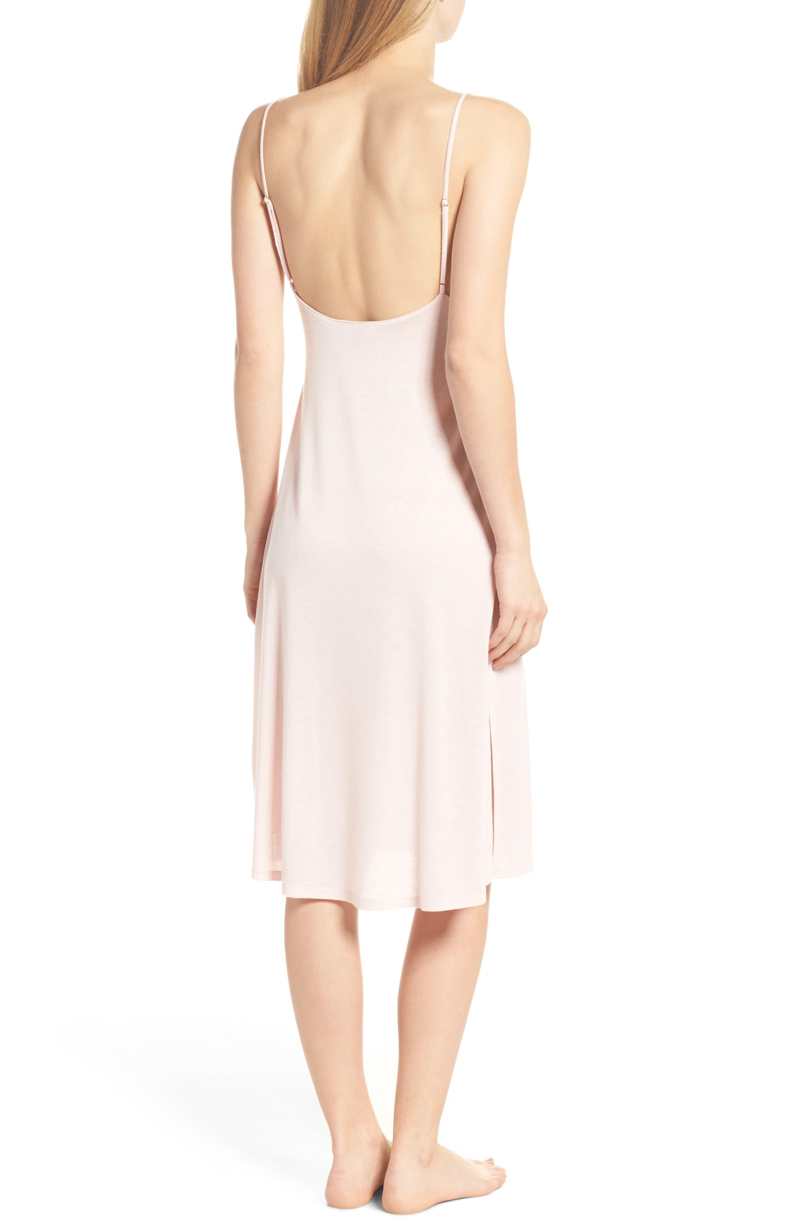 Luxe Shangri-La Nightgown,                             Alternate thumbnail 2, color,                             Blush Pink