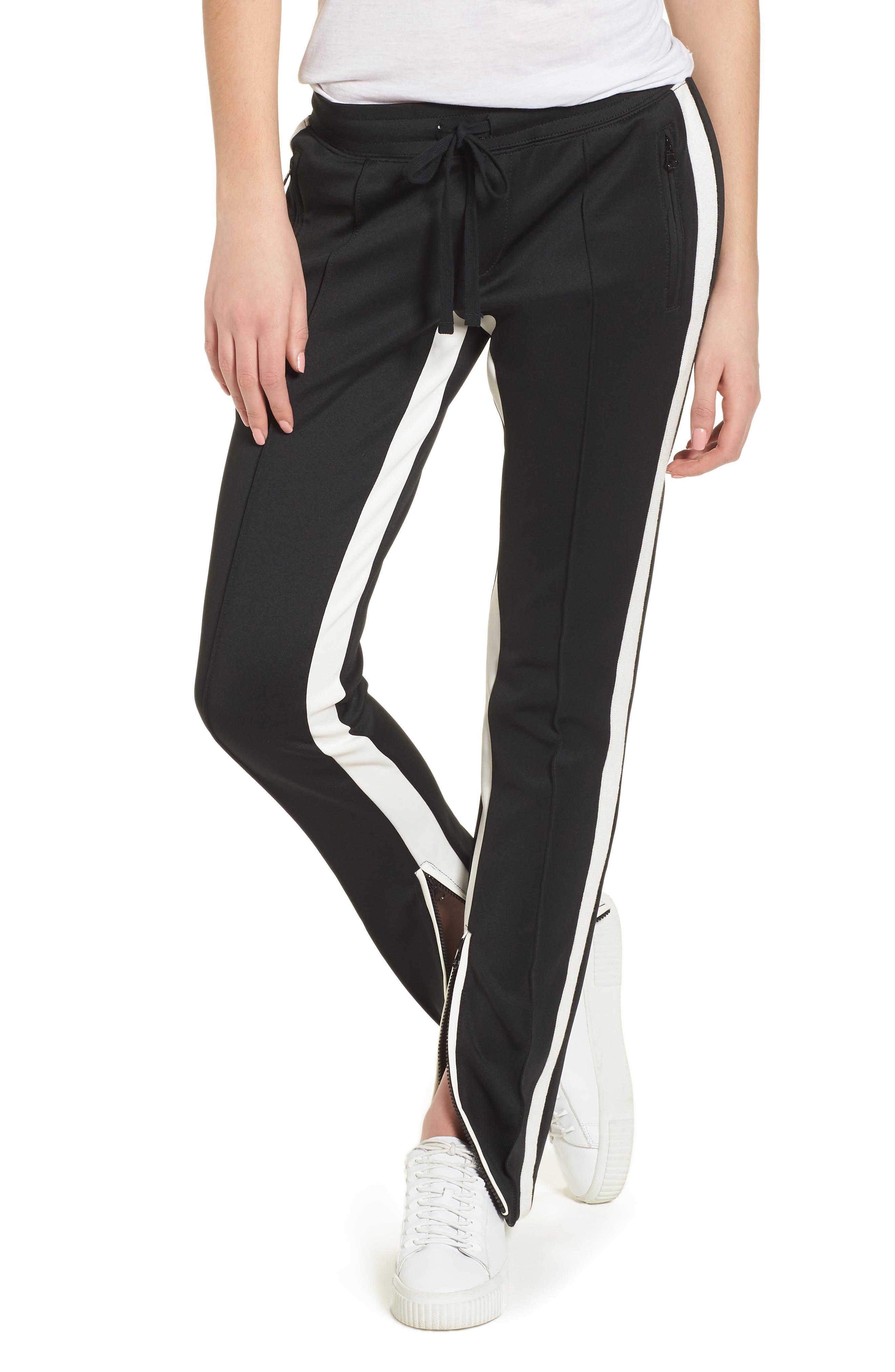 Cigarette Track Pants,                         Main,                         color, Black