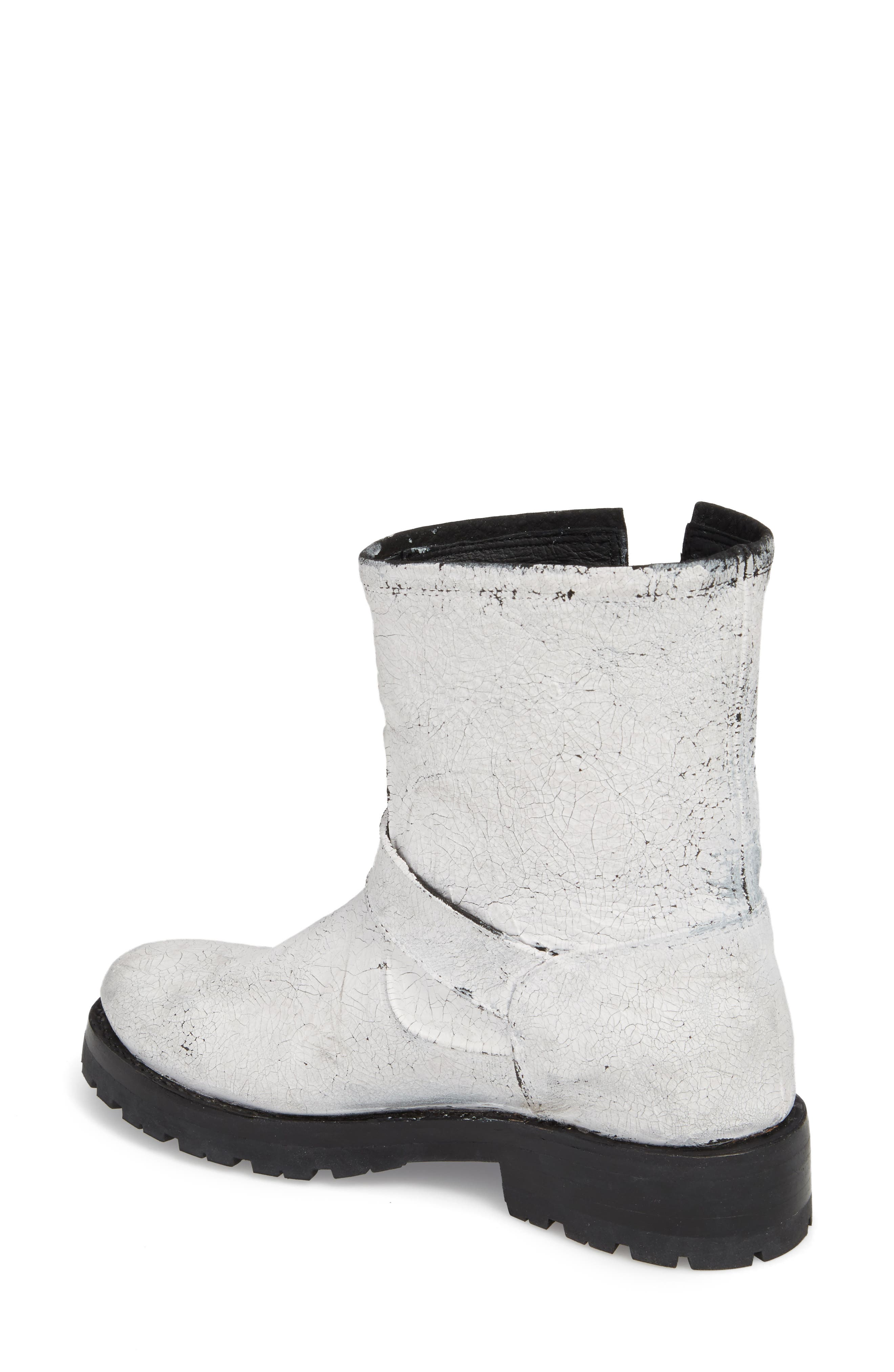 Natalie Engineer Boot,                             Alternate thumbnail 2, color,                             White Leather