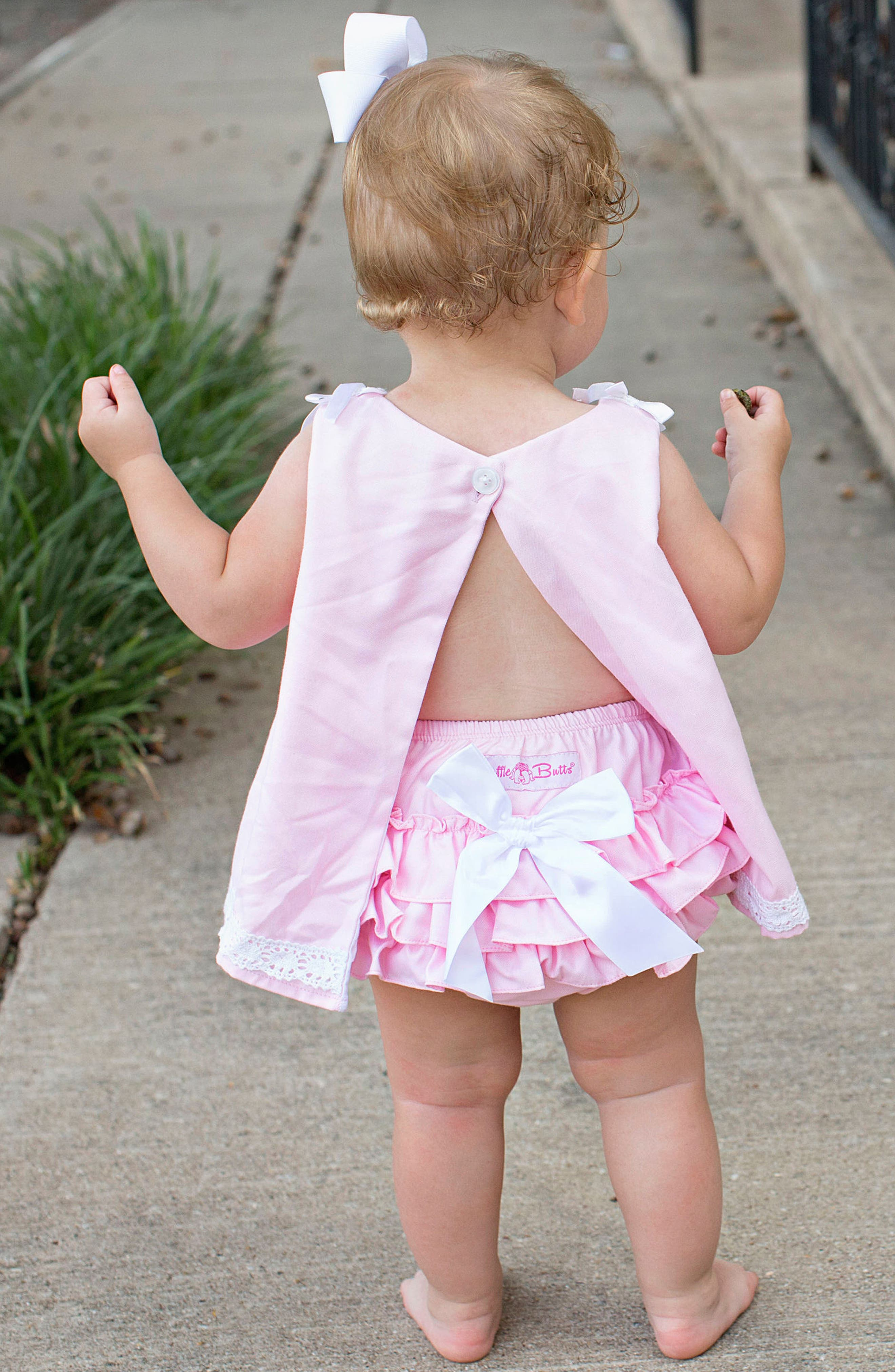 Chambray Swing Top & Ruffle Bloomers Set,                             Alternate thumbnail 3, color,                             Pink