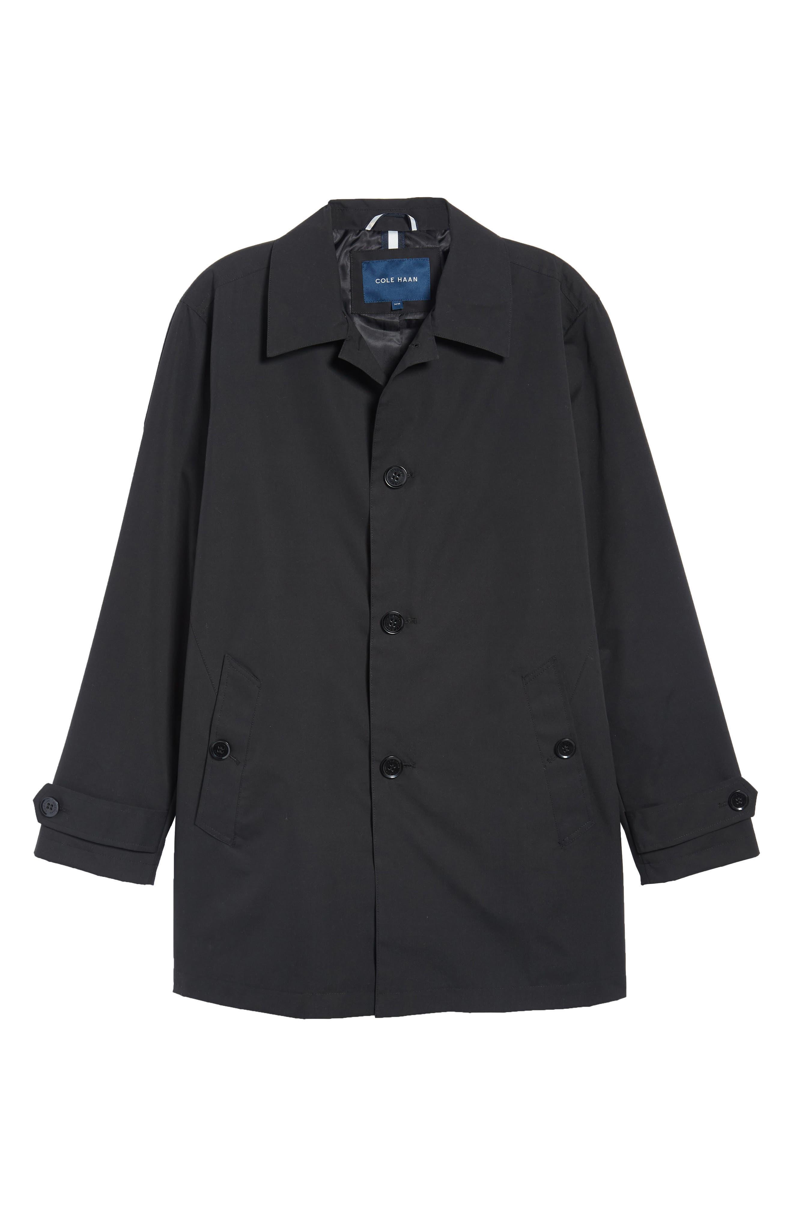 Raincoat,                             Alternate thumbnail 6, color,                             Black