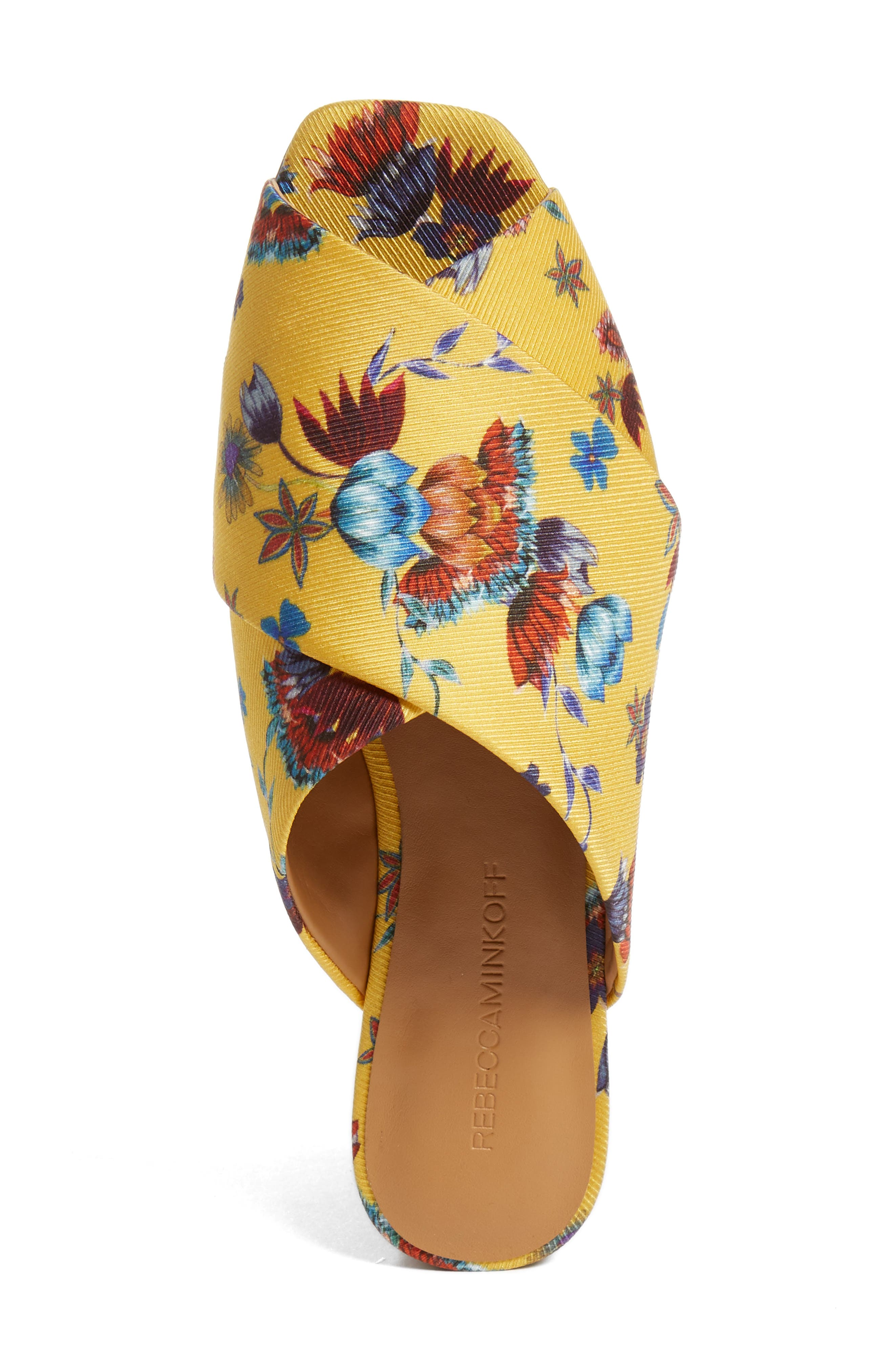Anden Slide Sandal,                             Alternate thumbnail 5, color,                             Butterscotch Multi Print Silk