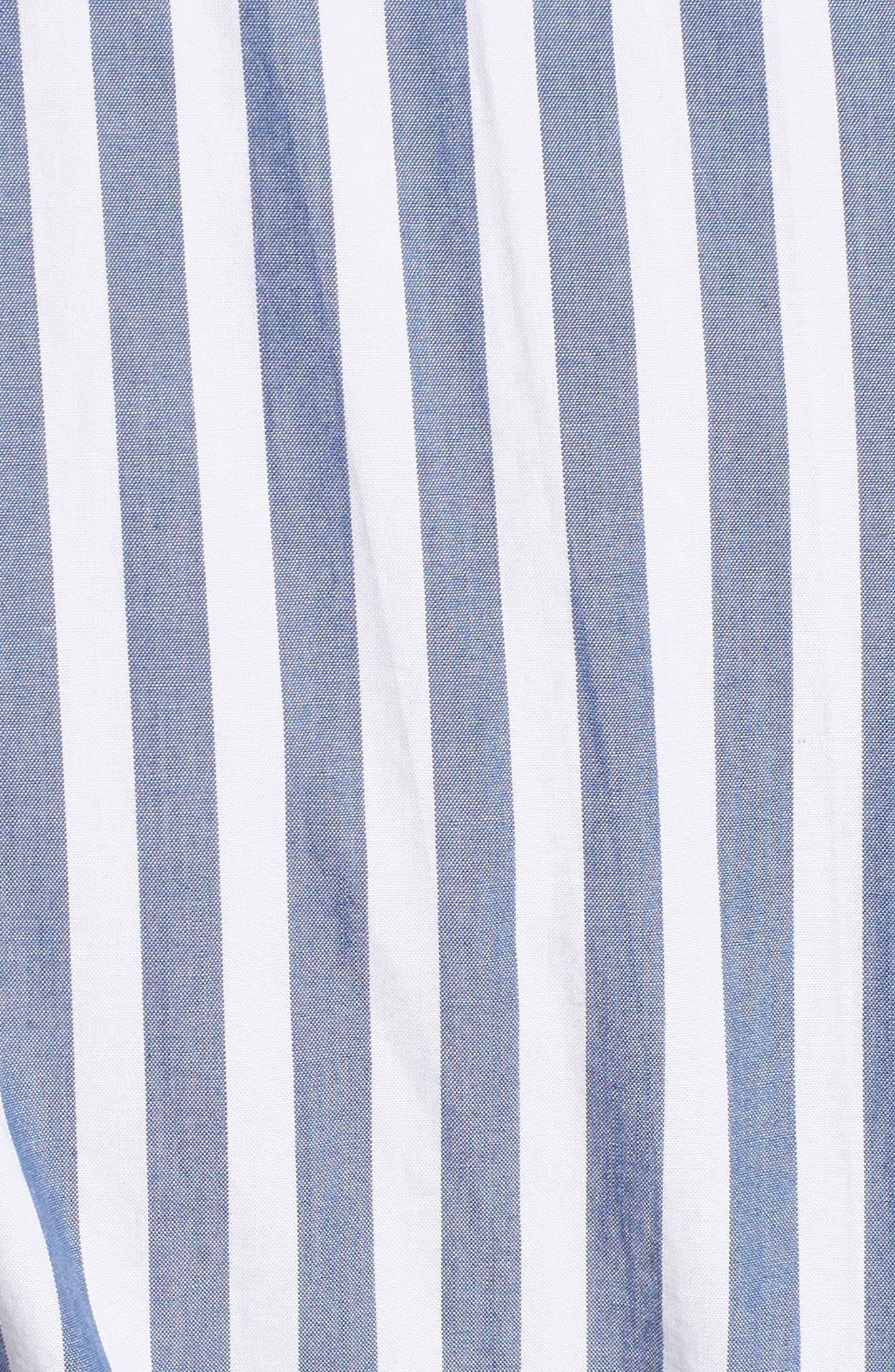 The Alda Stripe Belted Shirtdress,                             Alternate thumbnail 5, color,                             Blue Lagoon Stripe