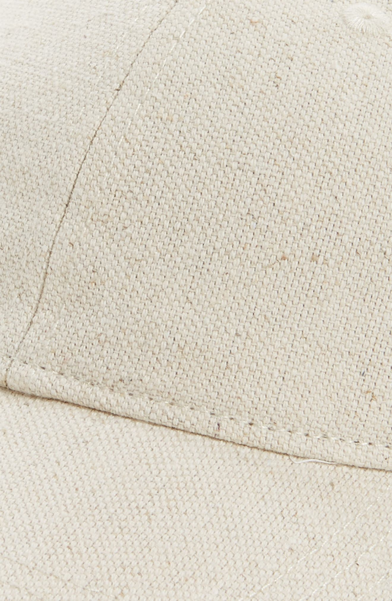 Cotton & Linen Baseball Cap,                             Alternate thumbnail 3, color,                             Canvas