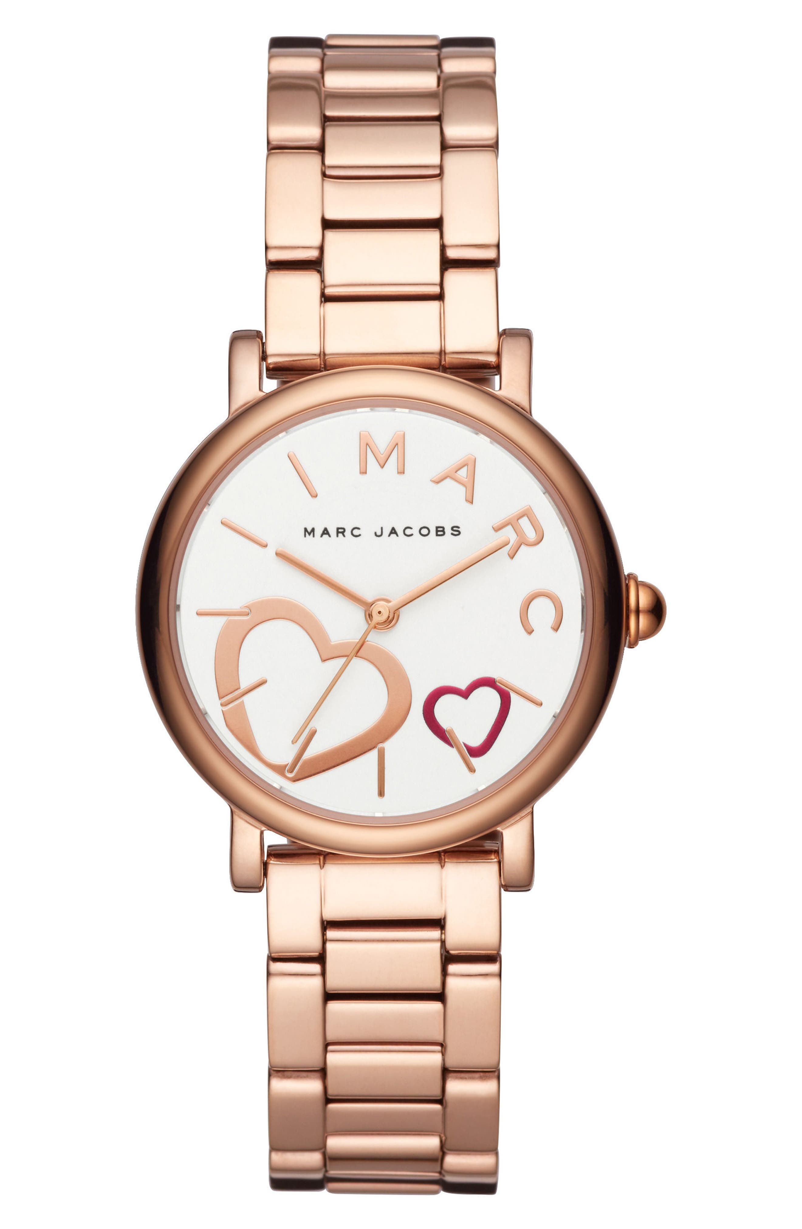 Classic Bracelet Watch, 29mm,                             Main thumbnail 1, color,                             Rose Gold/ White/ Rose Gold