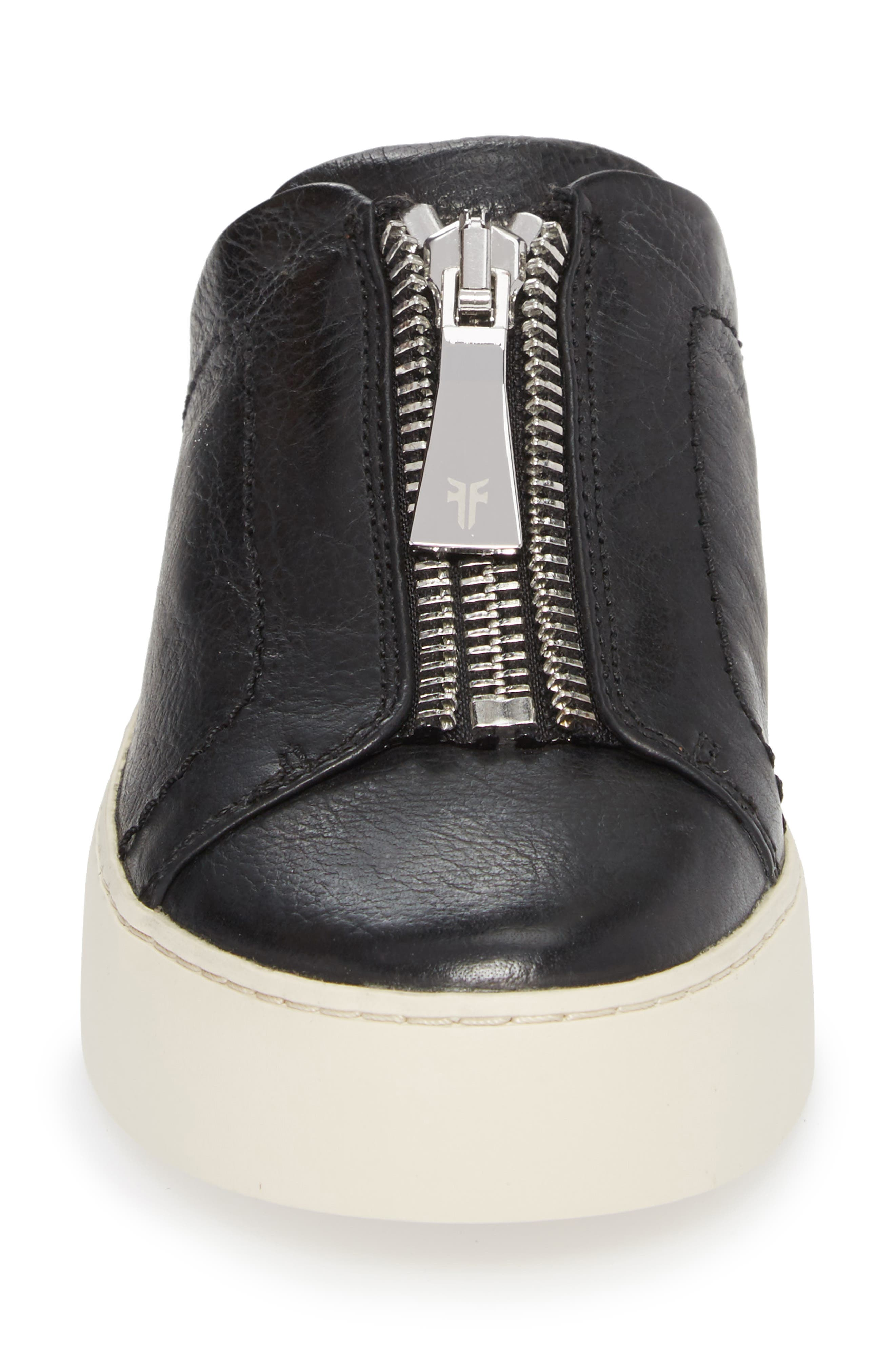 Lena Platform Sneaker Mule,                             Alternate thumbnail 5, color,                             Black Leather