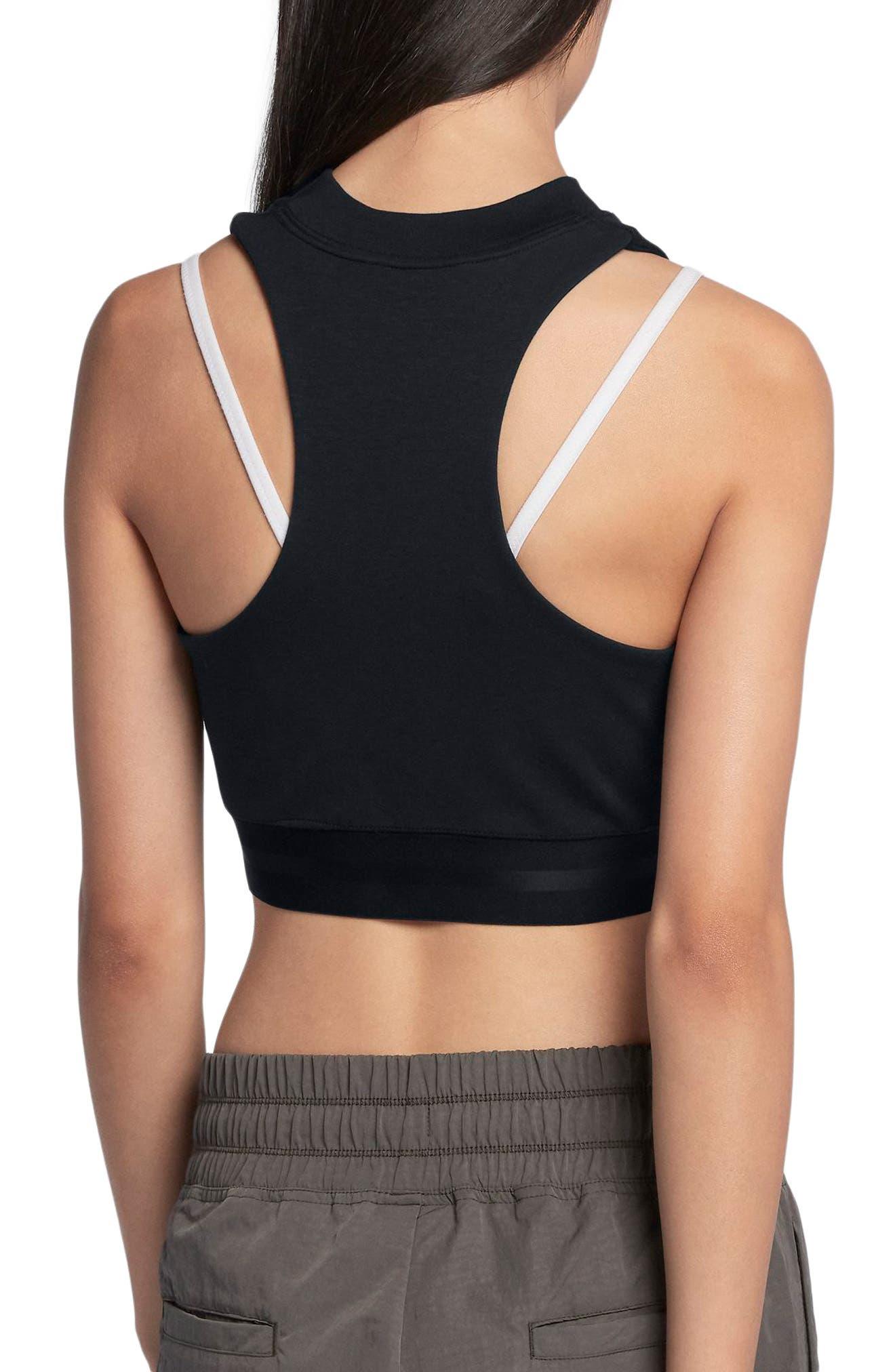 Sportswear Air Women's Crop Top,                             Alternate thumbnail 2, color,                             Black/ Black/ Black