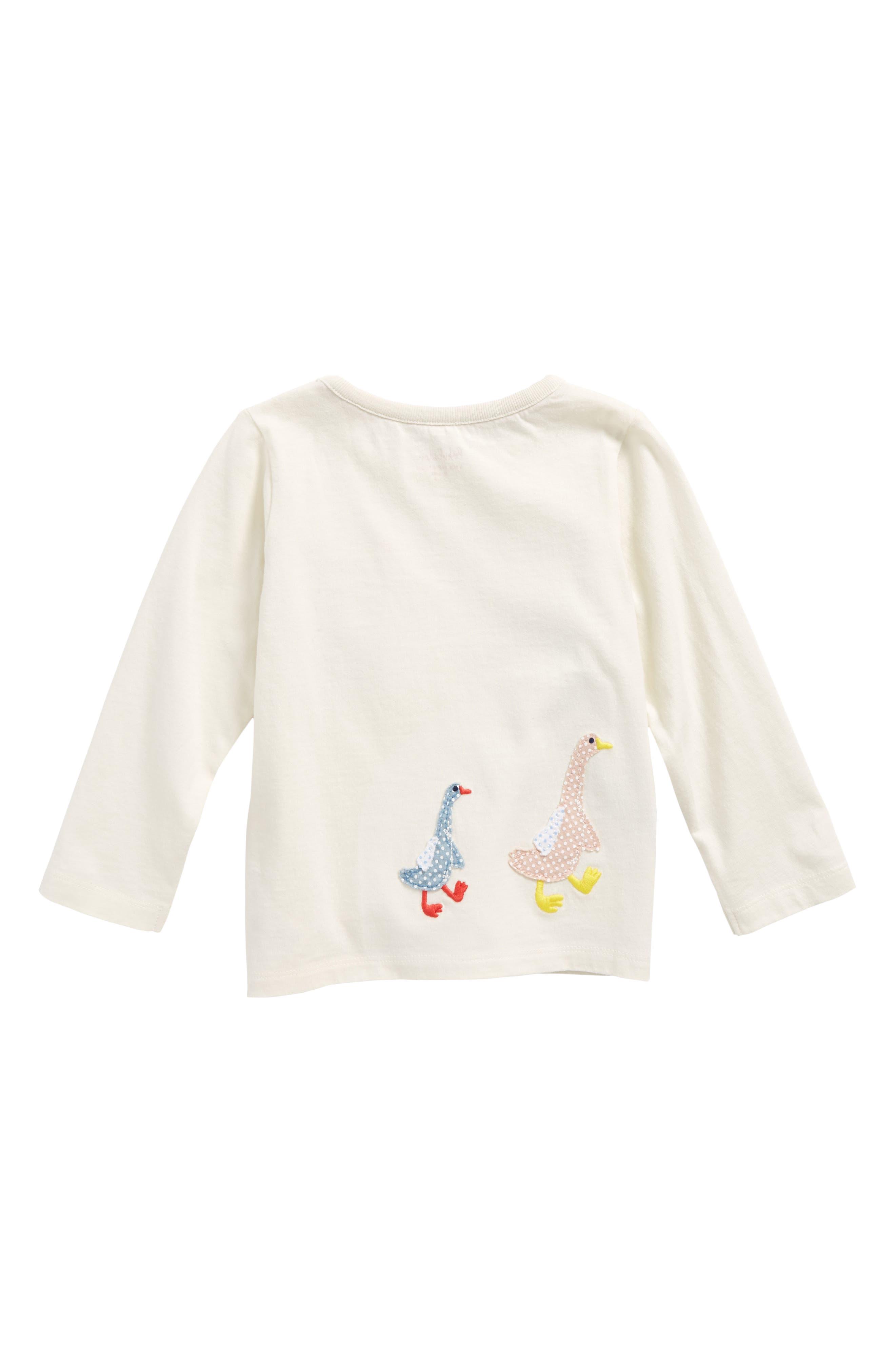Alternate Image 2  - Mini Boden Animal Appliqué Tee (Baby Girls & Toddler Girls)