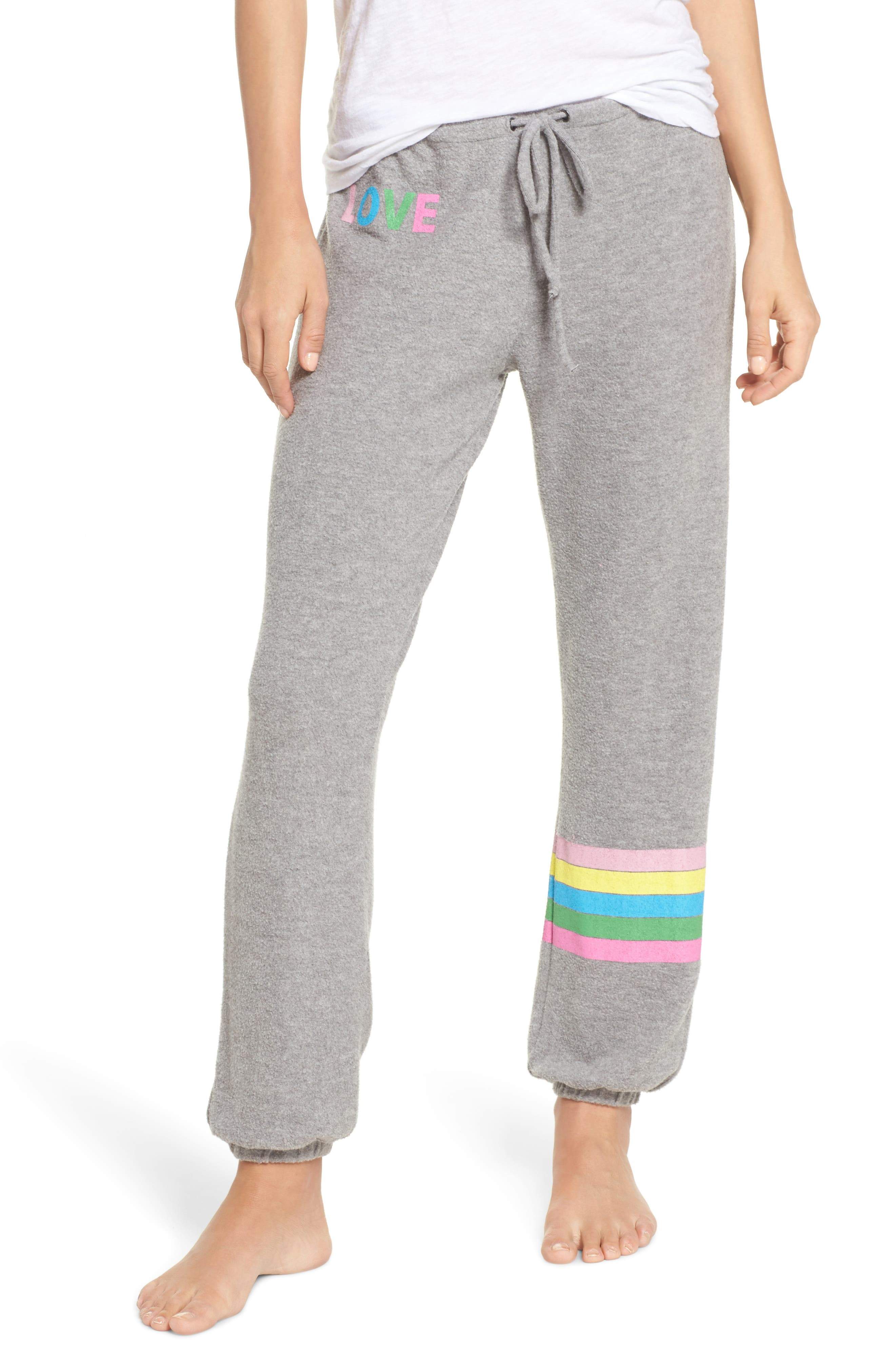 Love Sweatpants,                         Main,                         color, Heather Grey