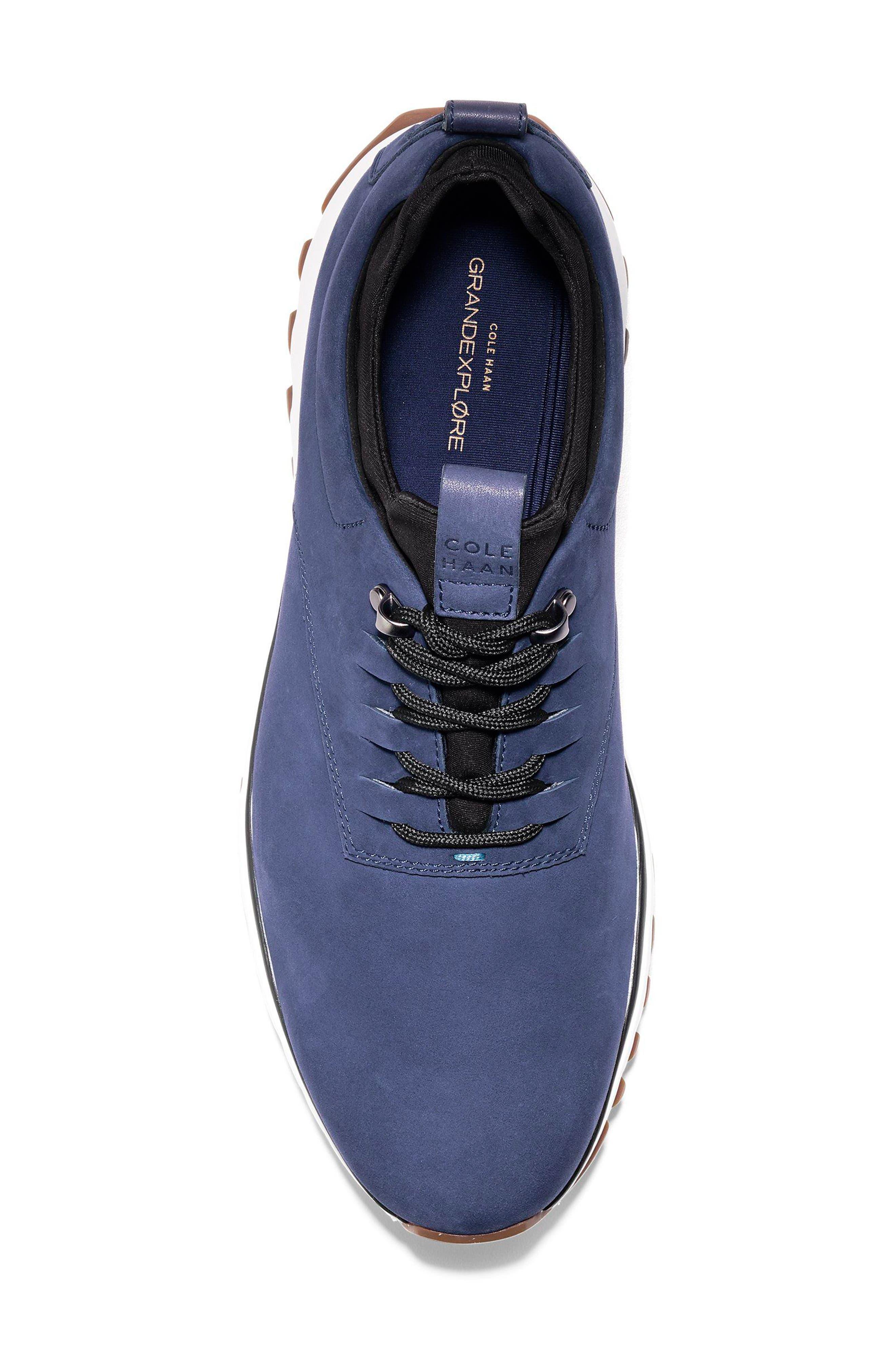 GrandExpløre All Terrain Waterproof Sneaker,                             Alternate thumbnail 5, color,                             Marine Blue Nubuck
