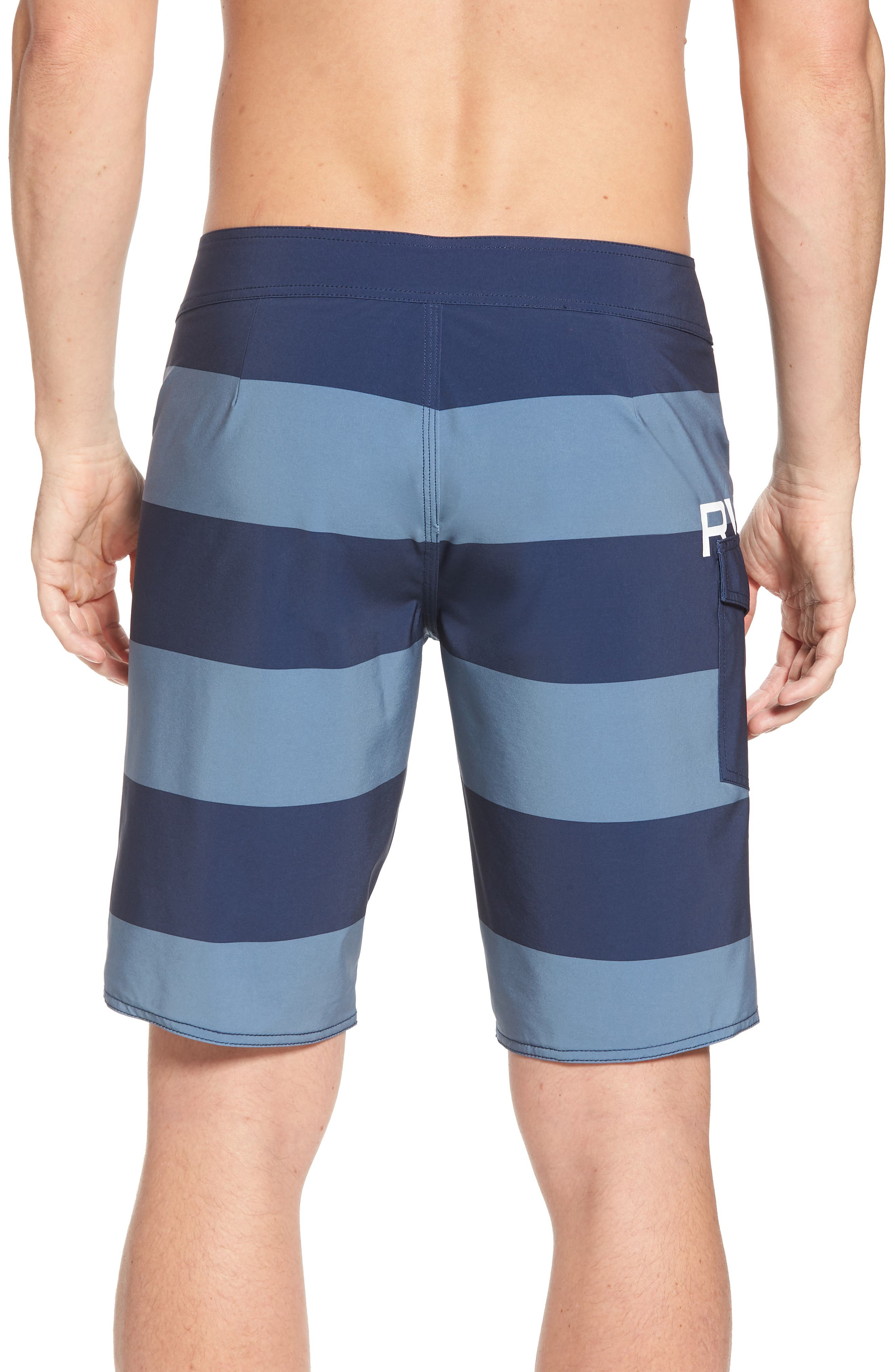 Uncivil Stripe Board Shorts,                             Alternate thumbnail 2, color,                             Classic Indigo