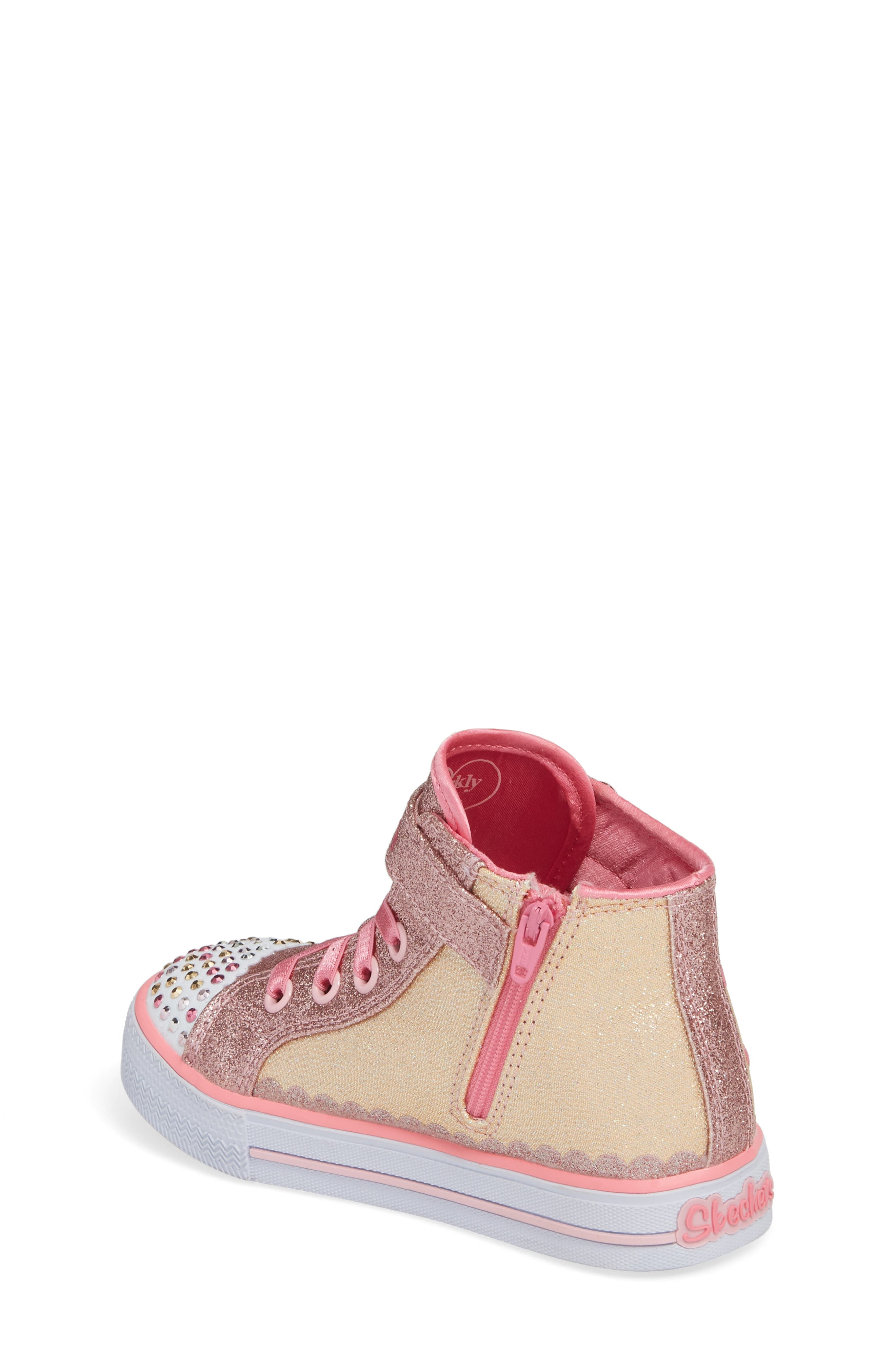 Twinkle Toes - Shuffles High Top Sneaker,                             Alternate thumbnail 2, color,                             Pink/ Hot Pink