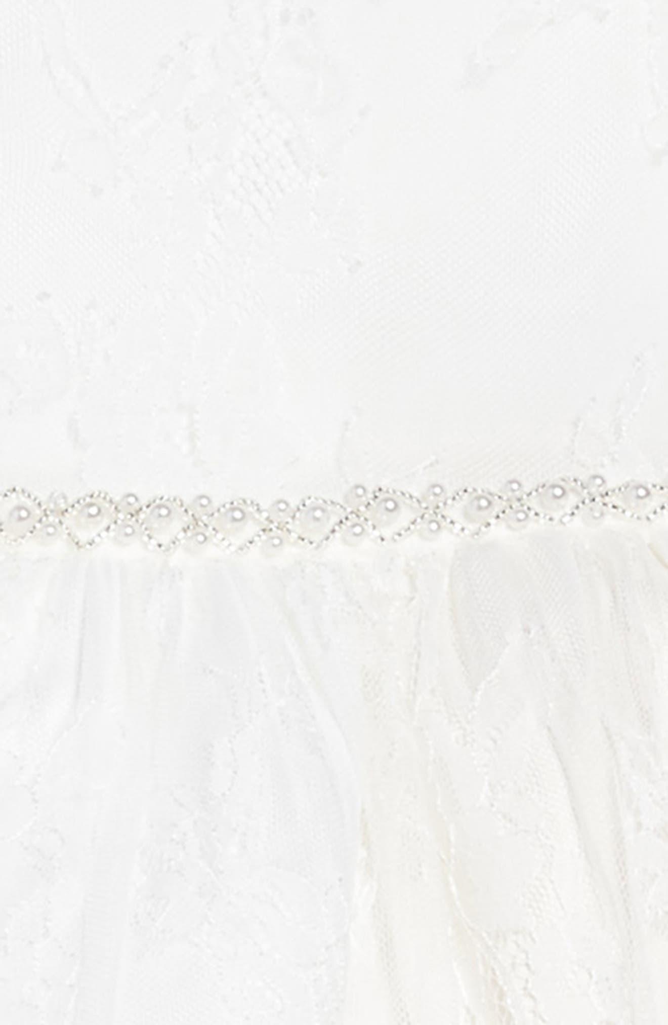 The Randi Floral Lace Dress,                             Alternate thumbnail 3, color,                             Ivory