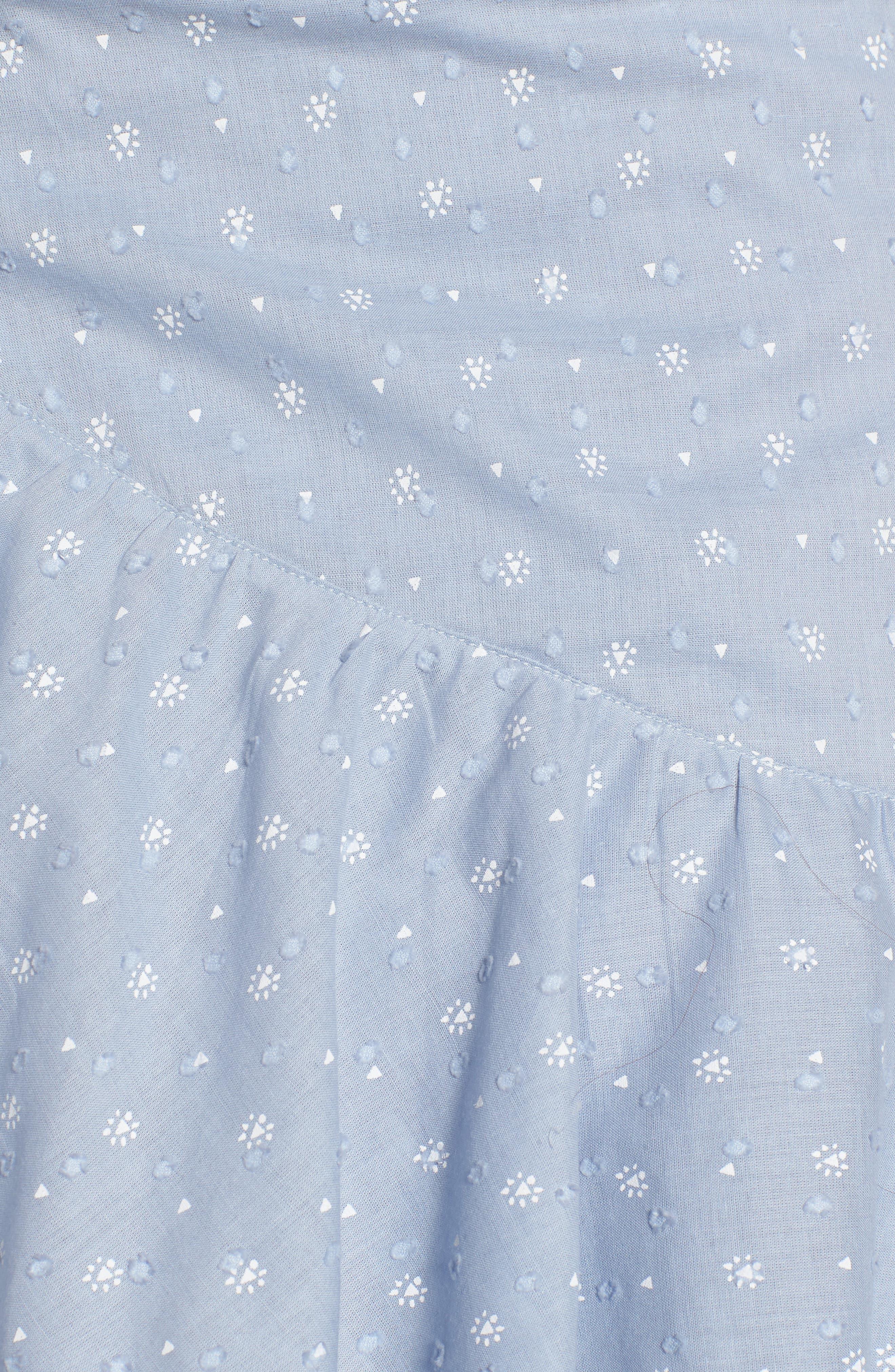 Mara Ruffled Miniskirt,                             Alternate thumbnail 6, color,                             Sail Blue