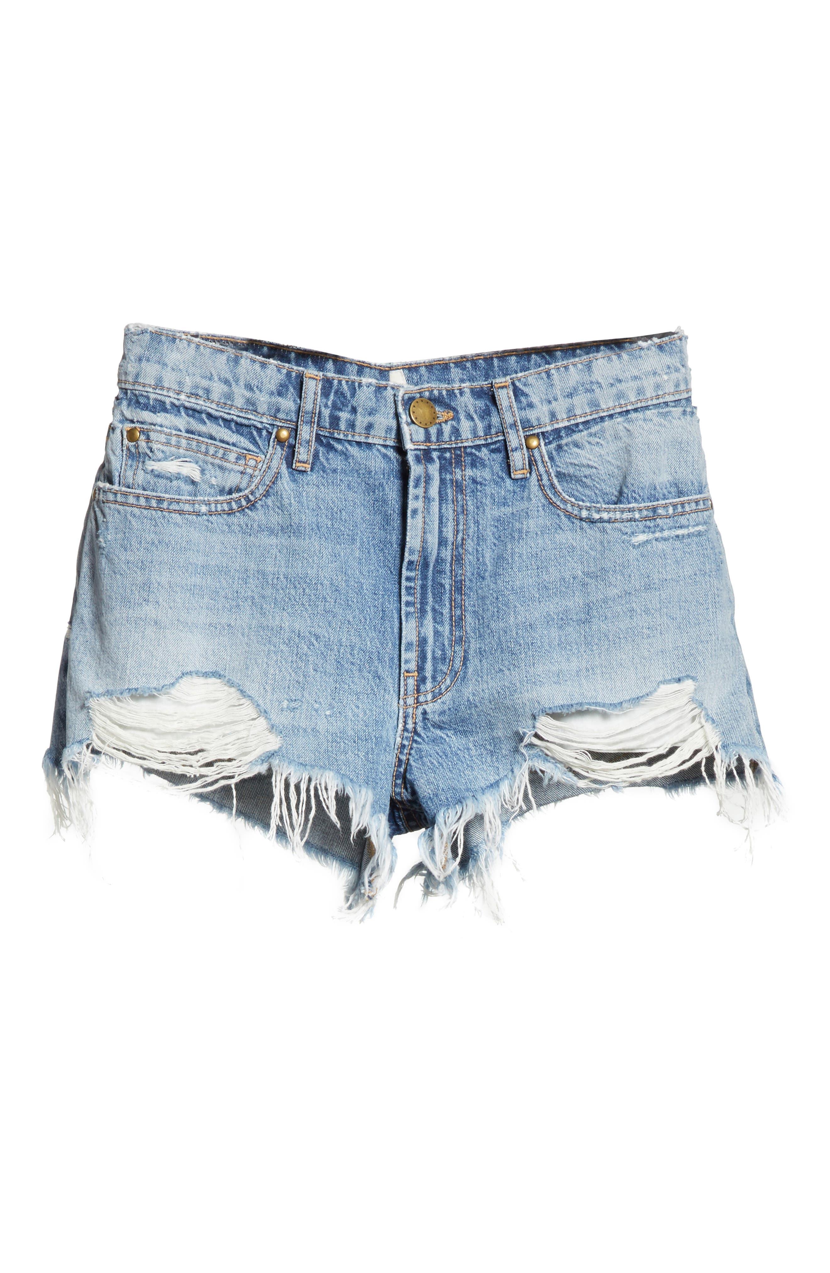 The Destroy Cutoff Denim Shorts,                             Alternate thumbnail 7, color,                             Canteen Wash
