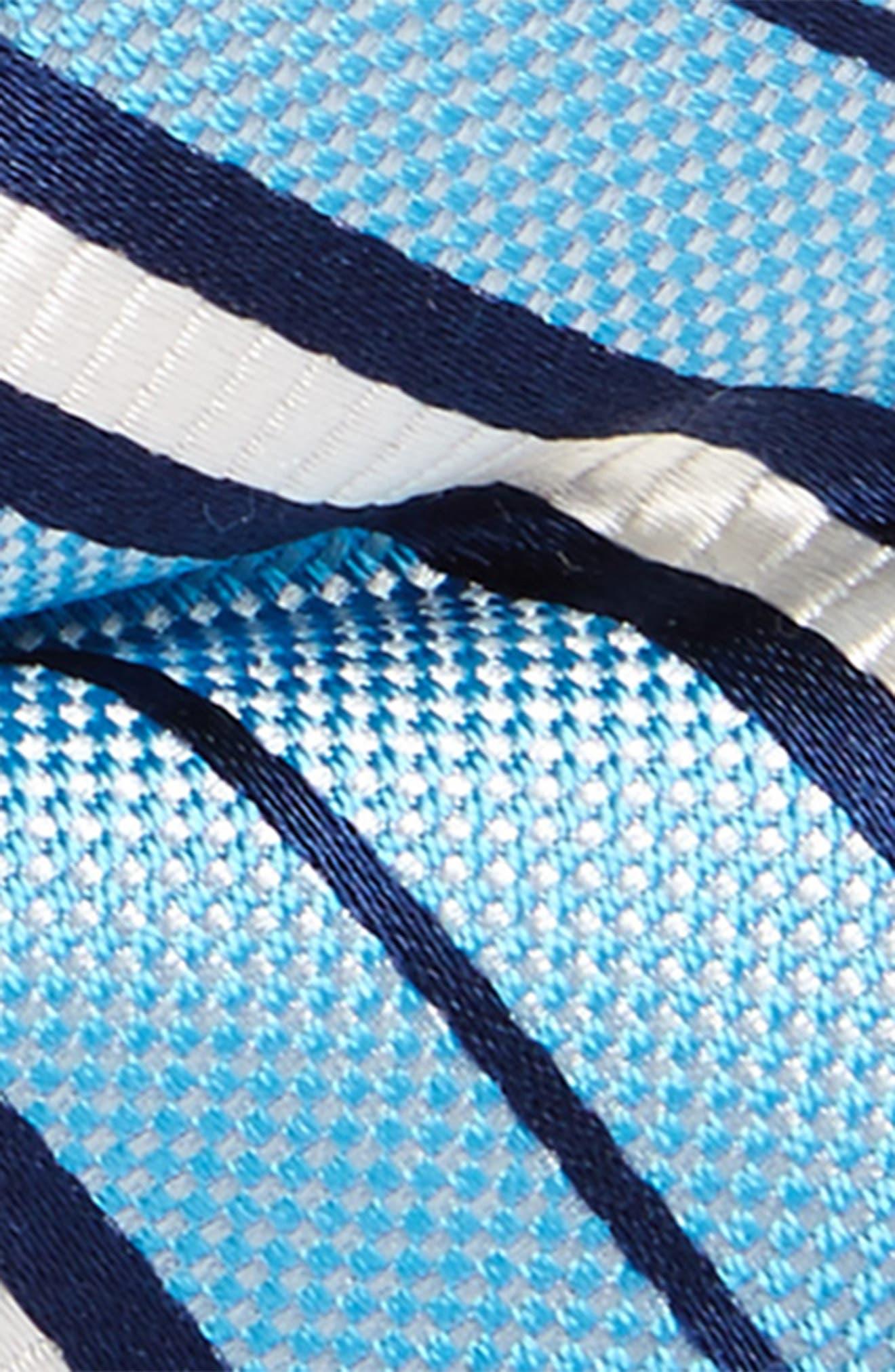 Candy Stripes Silk Bow Tie,                             Alternate thumbnail 2, color,                             Light Blue