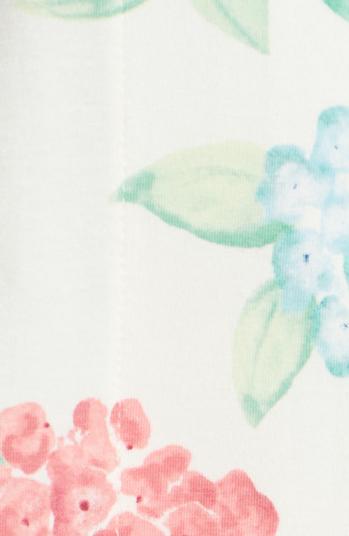 Crop Pajamas,                             Alternate thumbnail 6, color,                             Hydrangea
