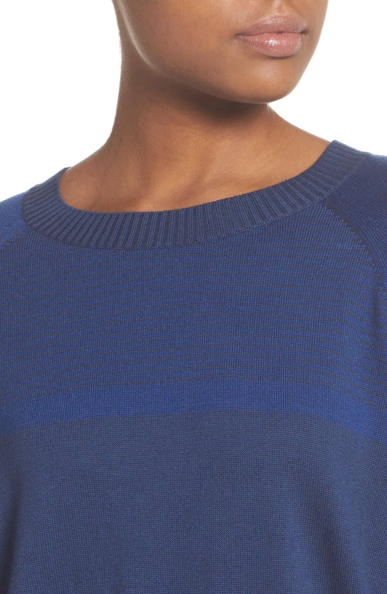Prism Cropped Sweater,                             Alternate thumbnail 4, color,                             Blue