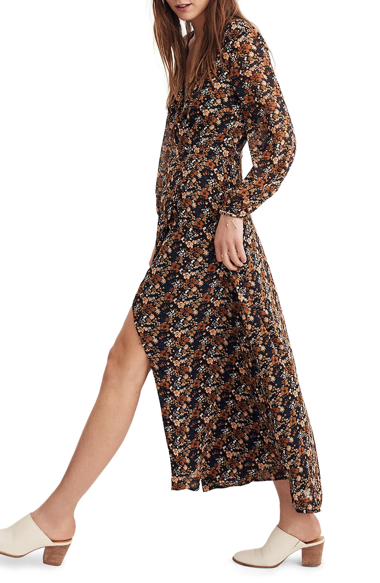Nightflower Maxi Dress,                             Alternate thumbnail 2, color,                             Woodland Floral