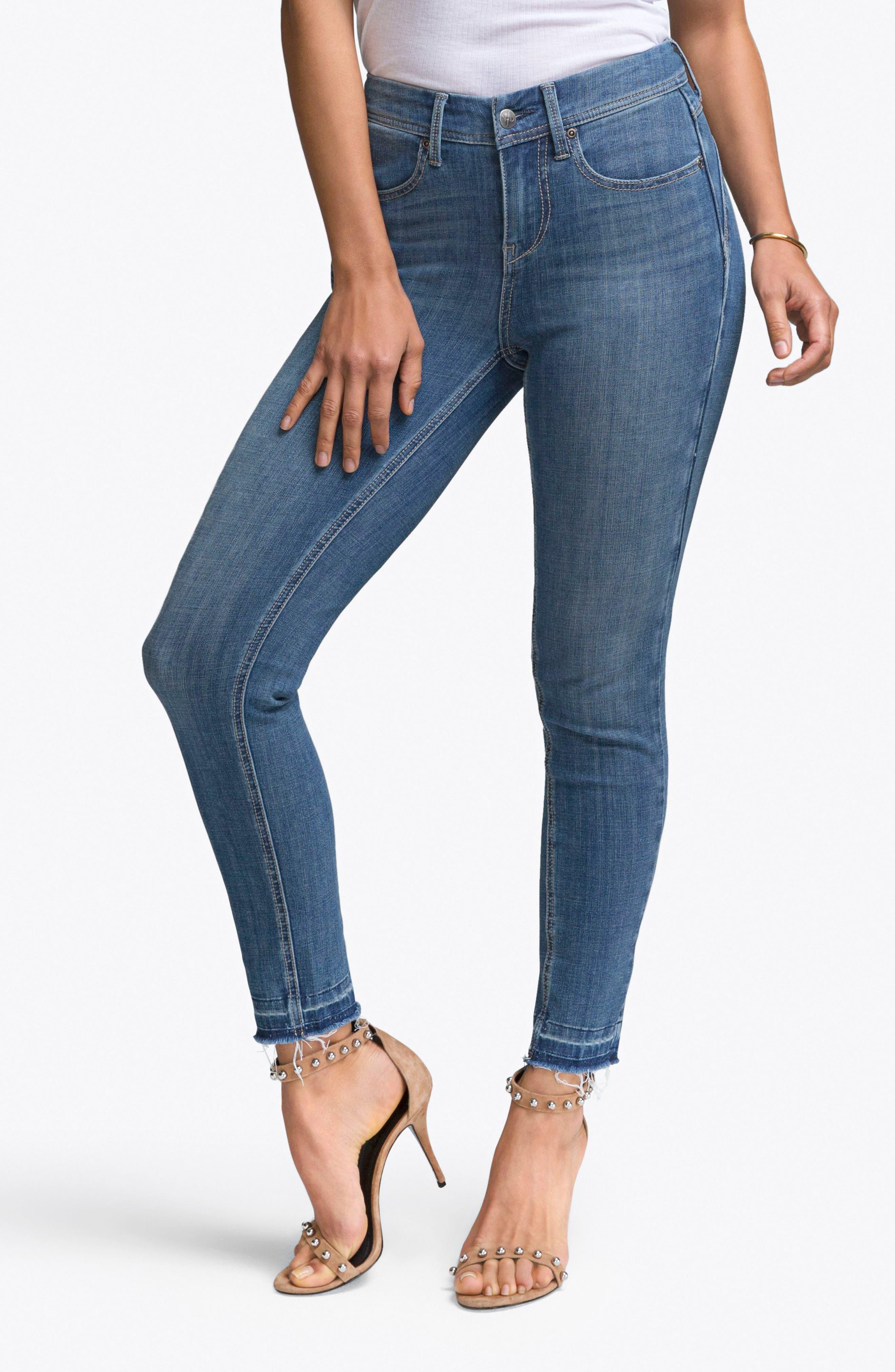 Release Hem Skinny Jeans,                             Main thumbnail 1, color,                             Lear