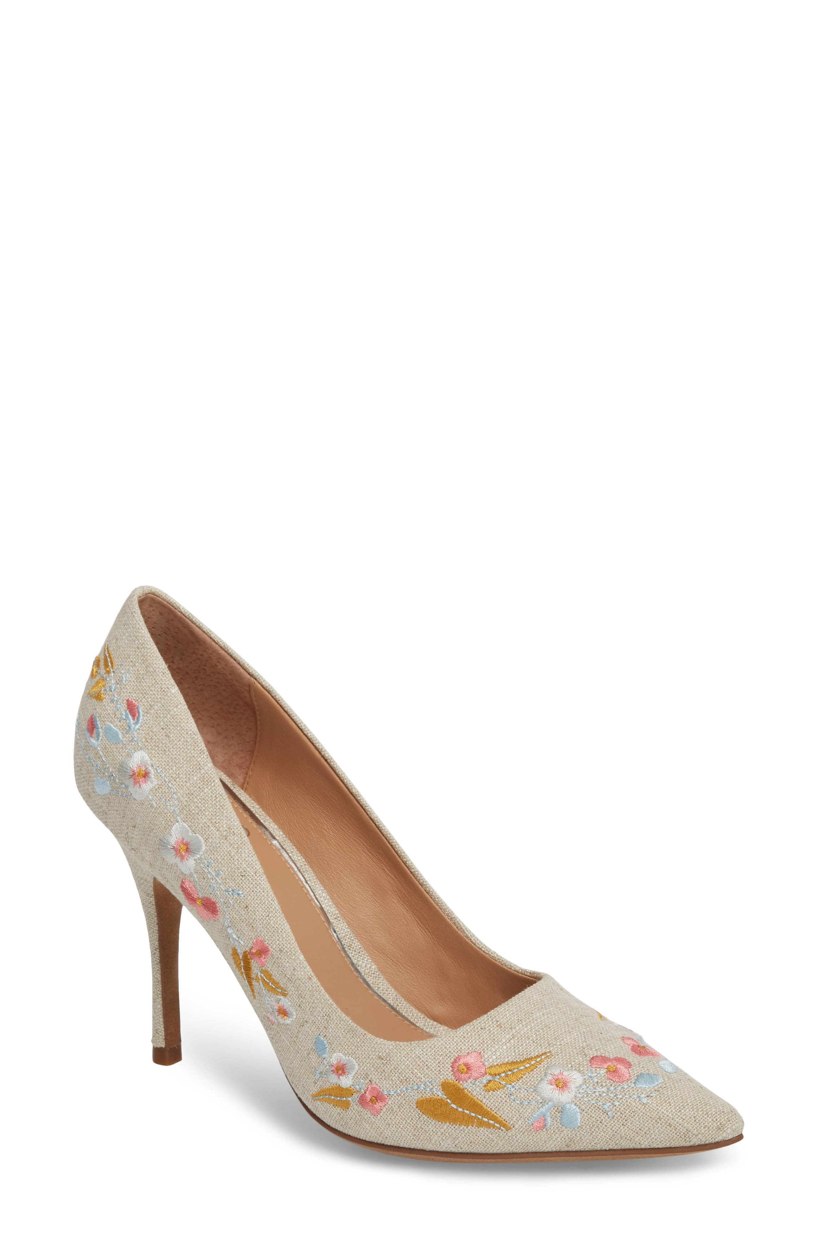 Linea Paolo Paisley Embroidered Pump (Women)
